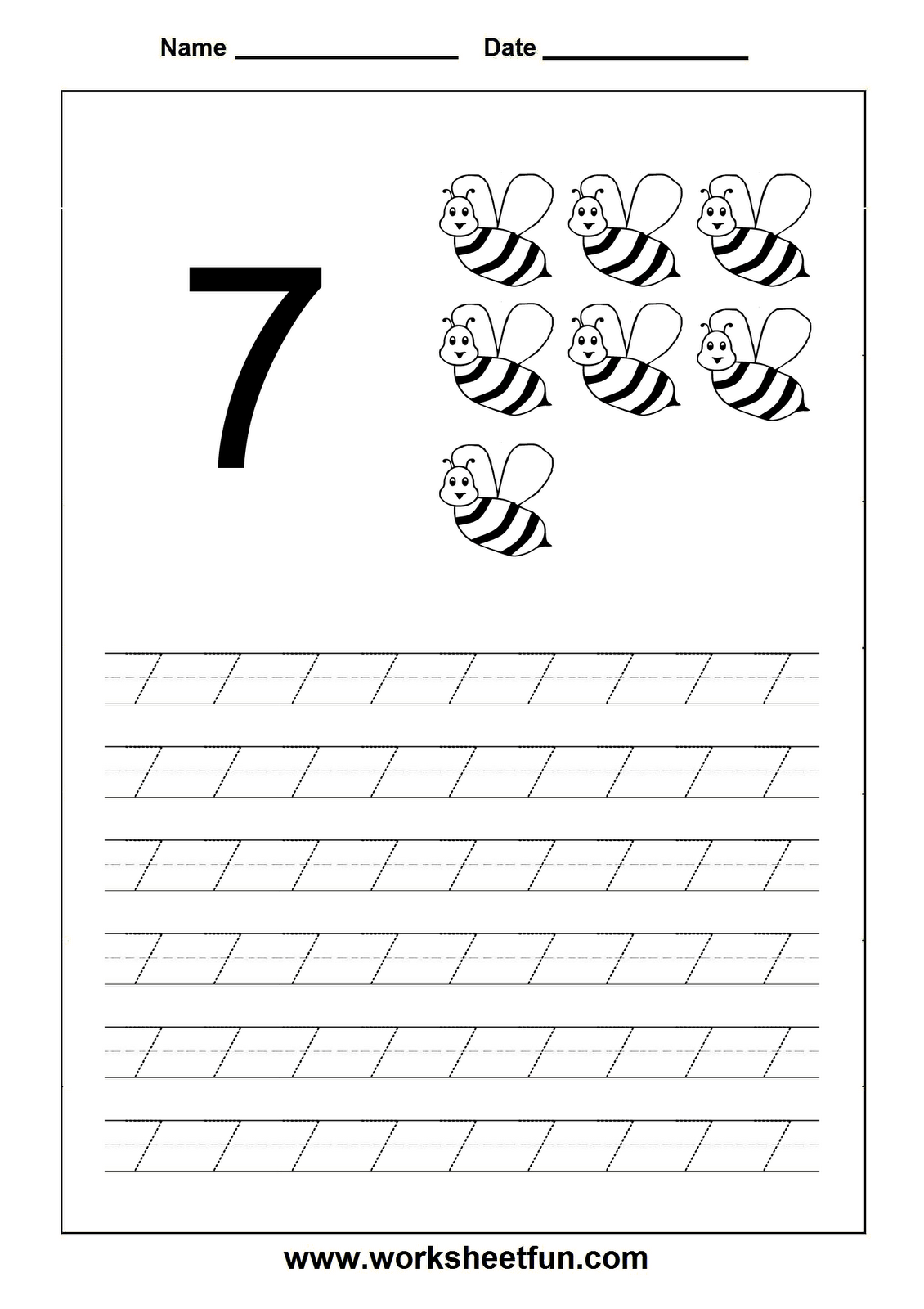 15 Best Images Of Number 7 Worksheets For Pre K