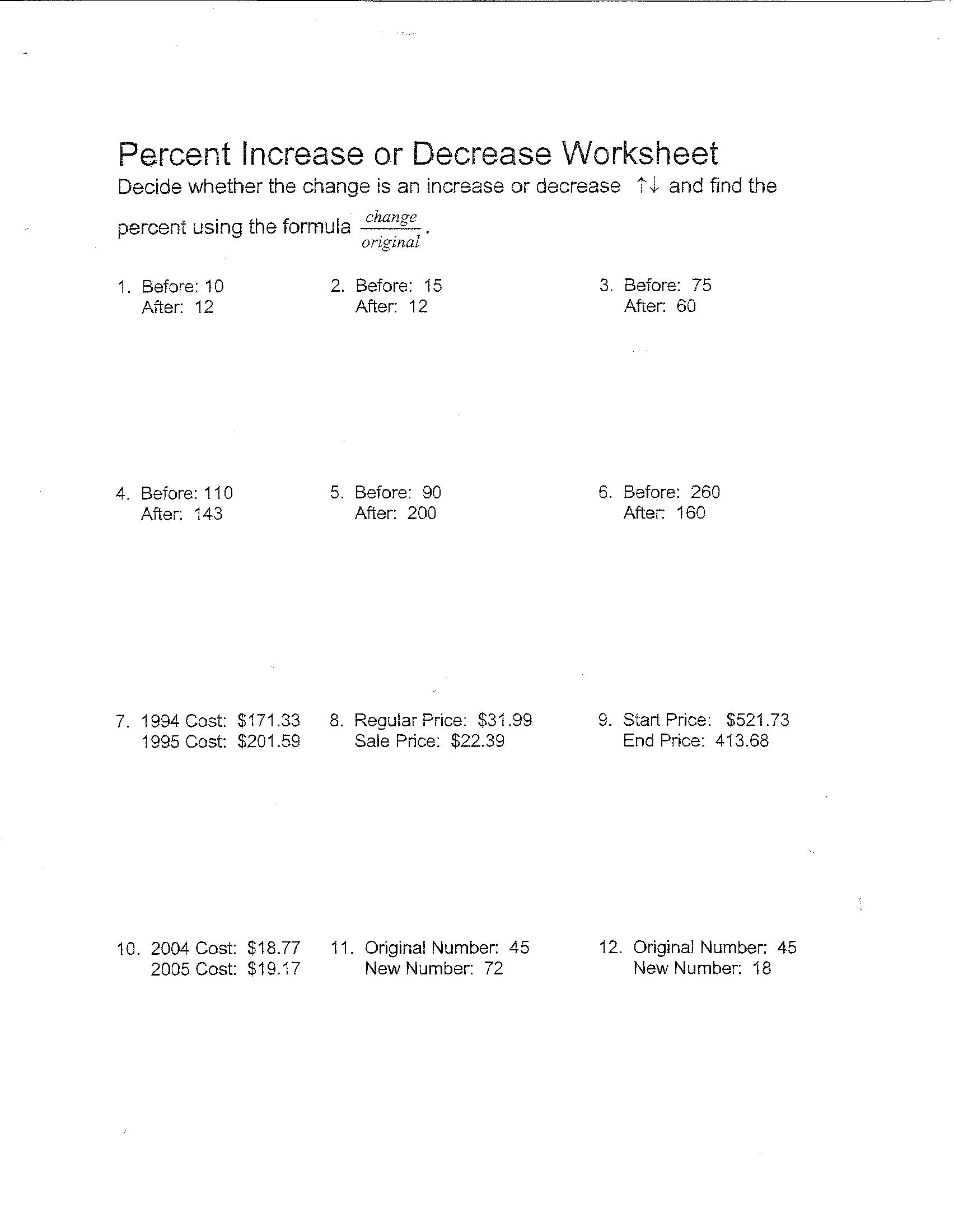 10 Best Images Of Percentage Worksheets For Grade 5