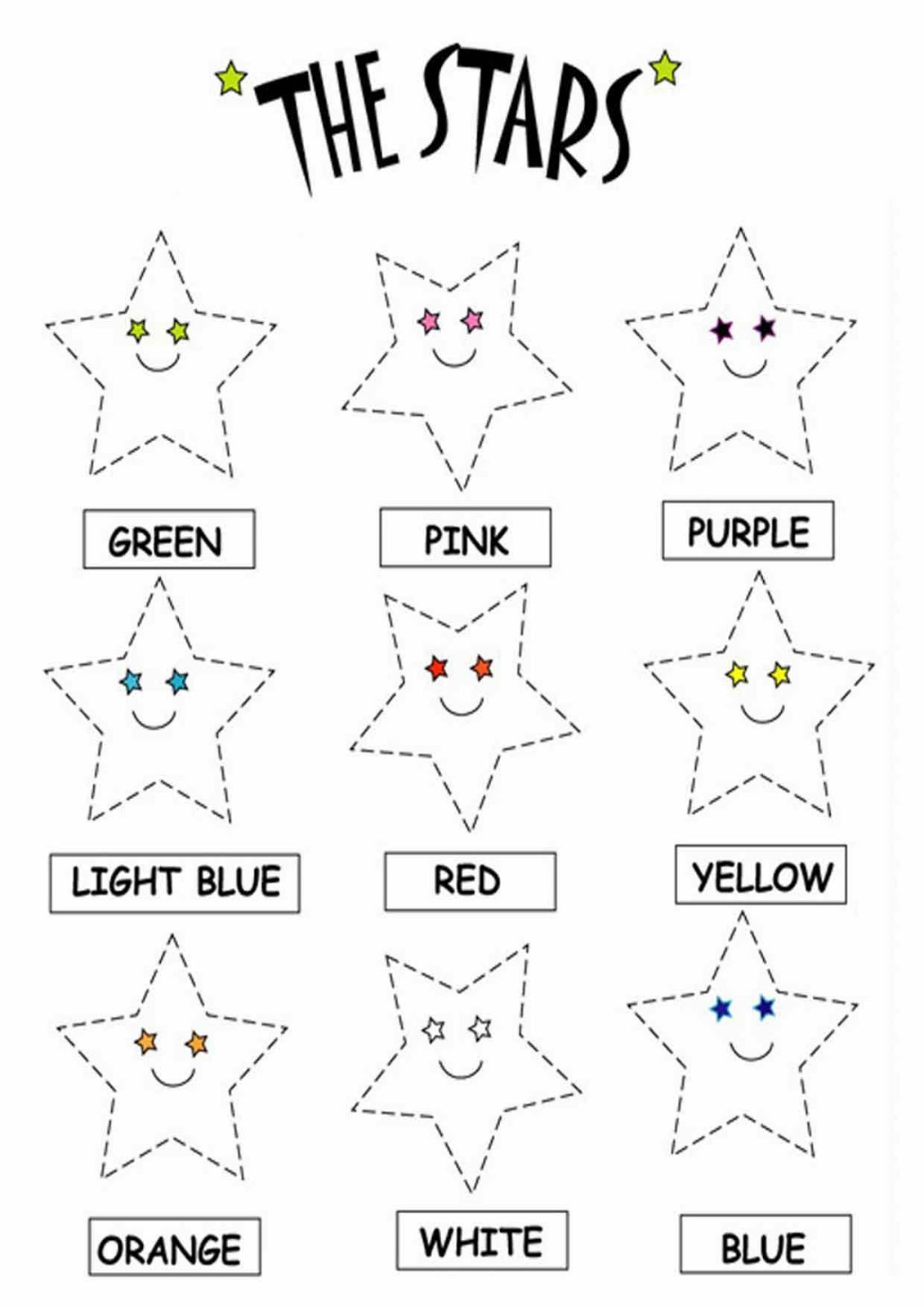 11 Best Images Of Star Worksheets To Color