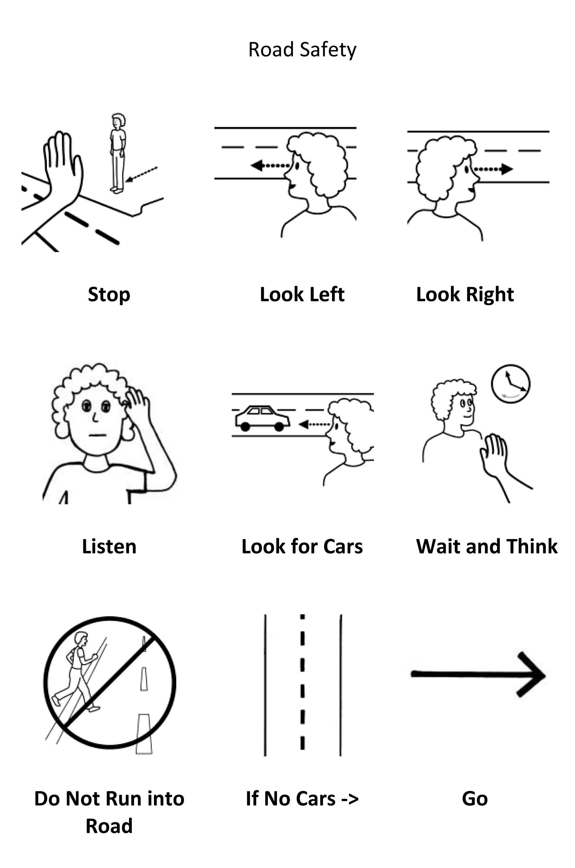 Safety Signs Worksheet First Grade
