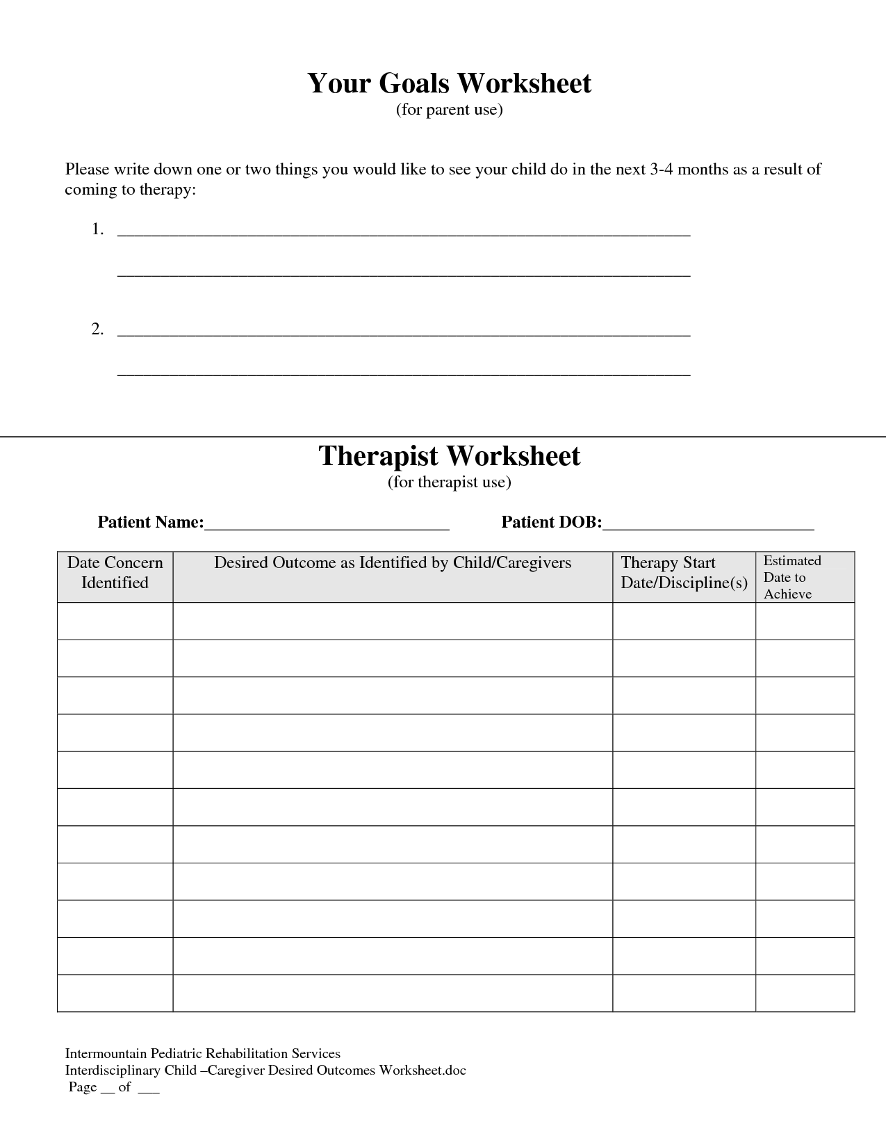 8 Best Images Of Long Term Addiction Worksheet