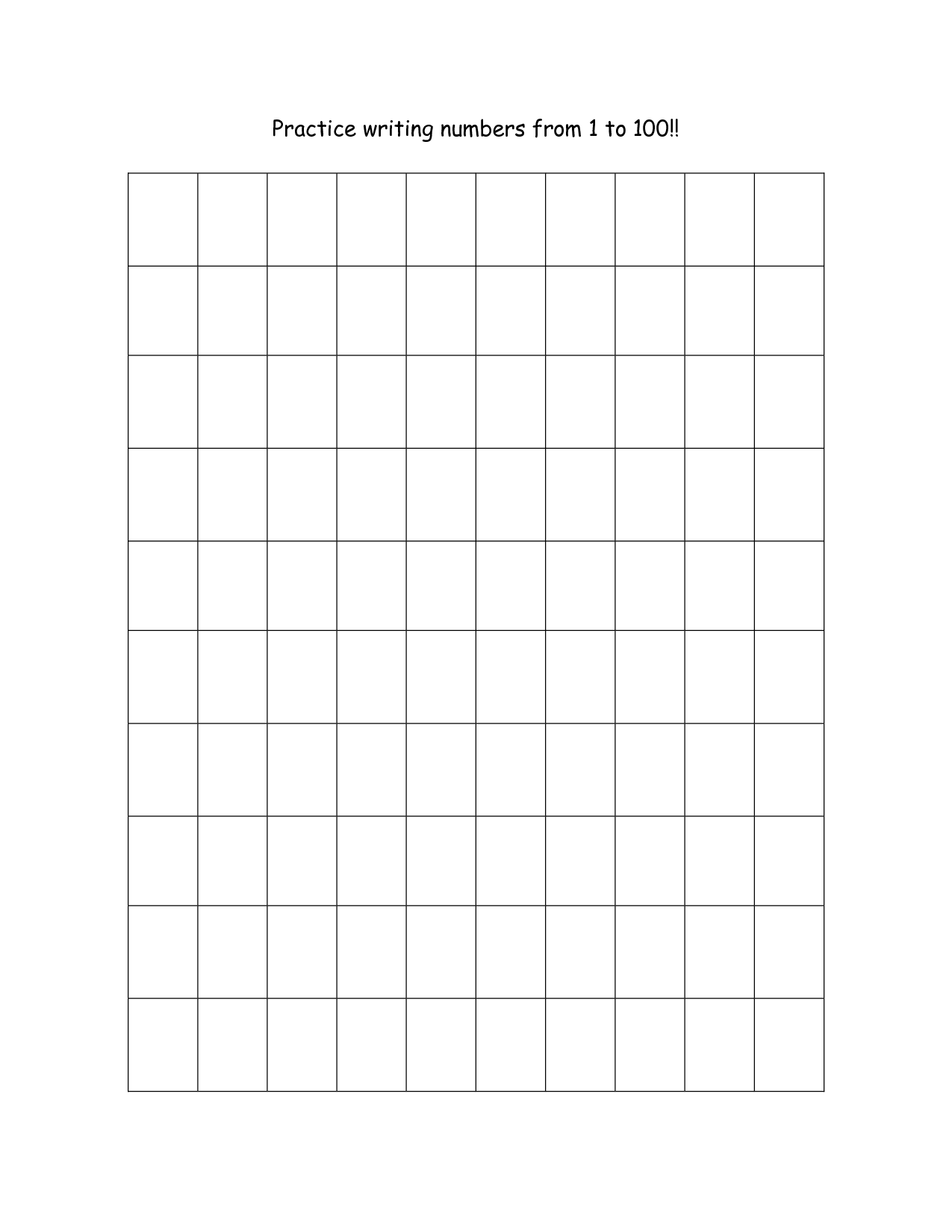 13 Best Images Of Practice Writing Numbers 1 100 Worksheet