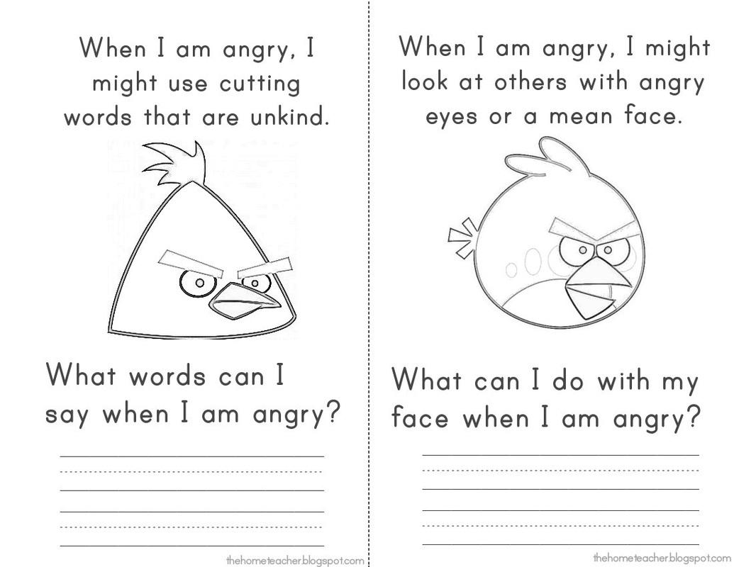 Anger Iceberg Worksheet Printable