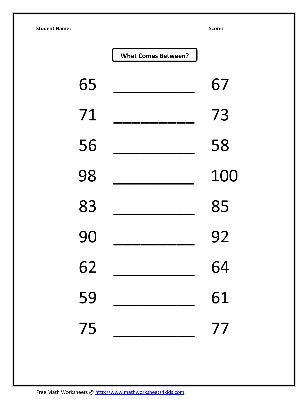9 Best Images Of Before And After Number Worksheets