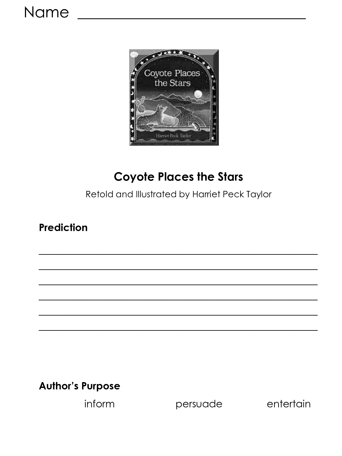 Authors Purpose Practice Worksheet