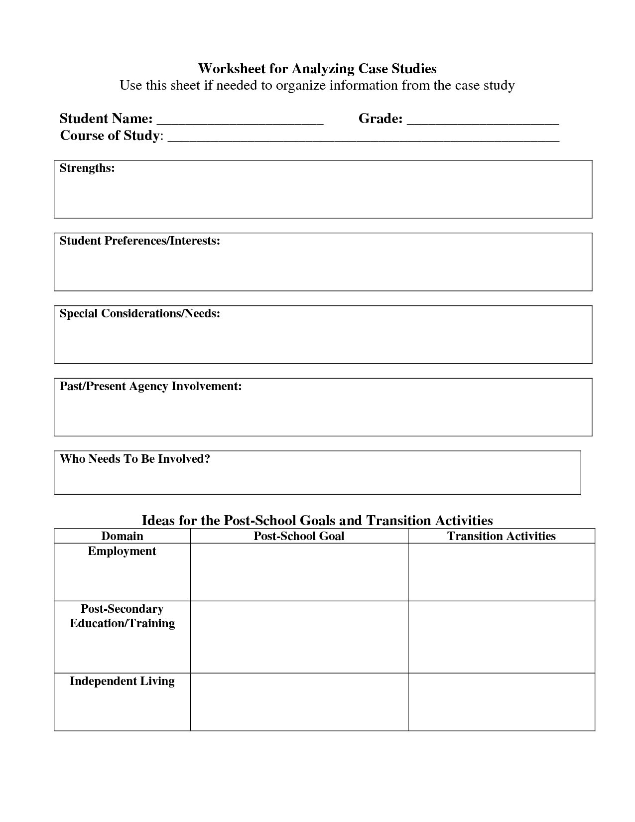 5 Best Images Of Personal Strengths Worksheet
