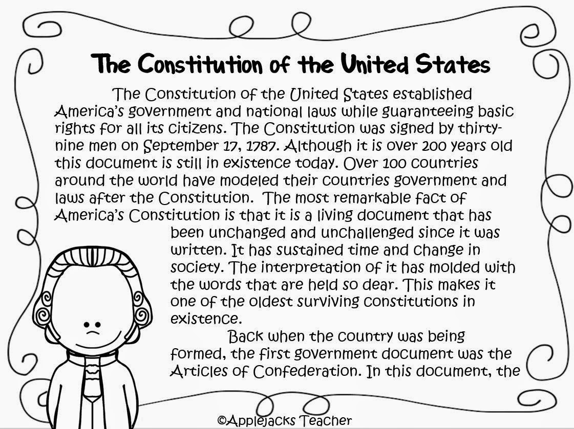11 Best Images Of Constitution Activity Worksheets