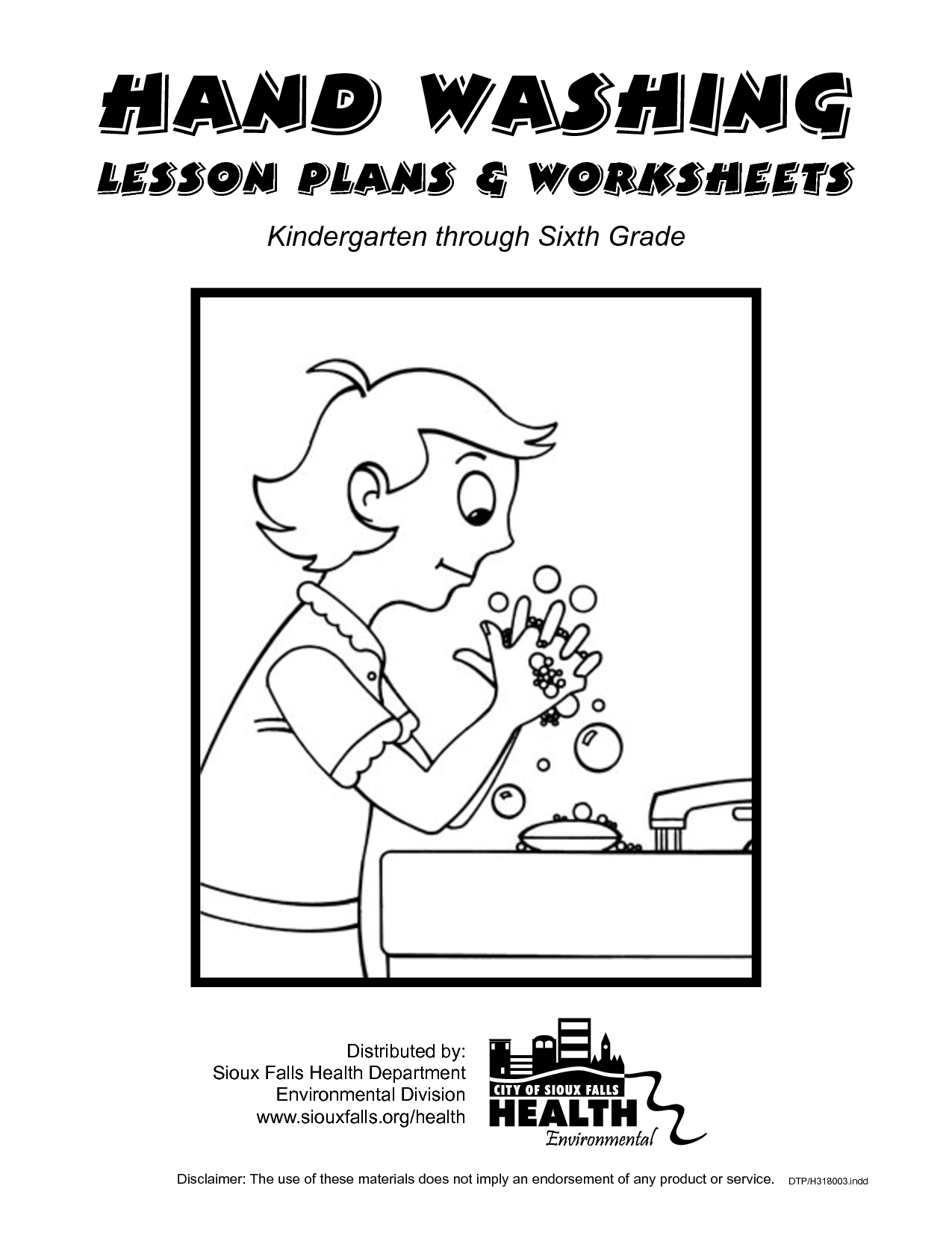 Washing Hands Worksheet