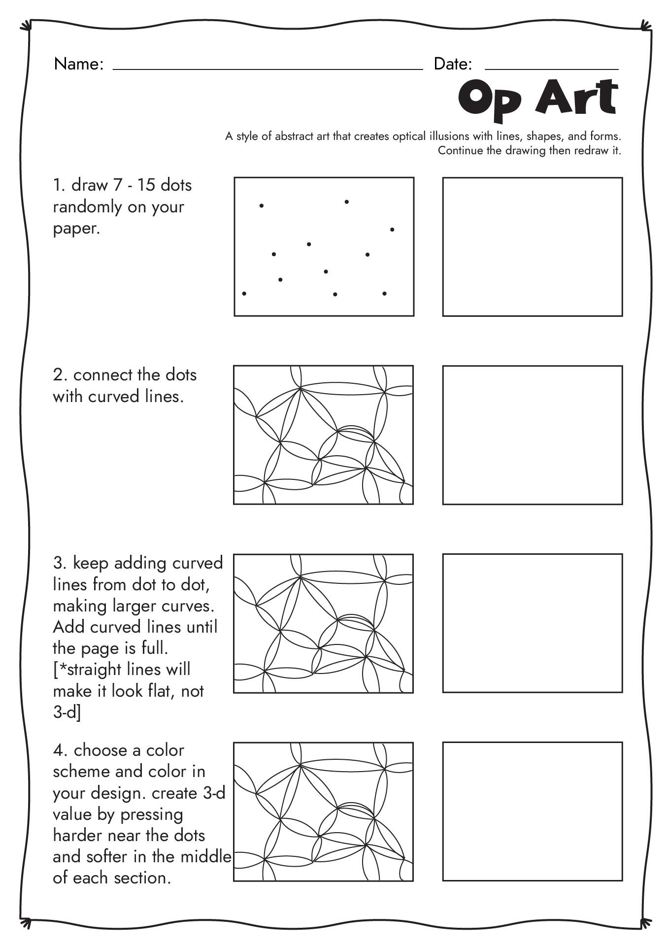 19 Best Images Of Op Art Worksheets Printable