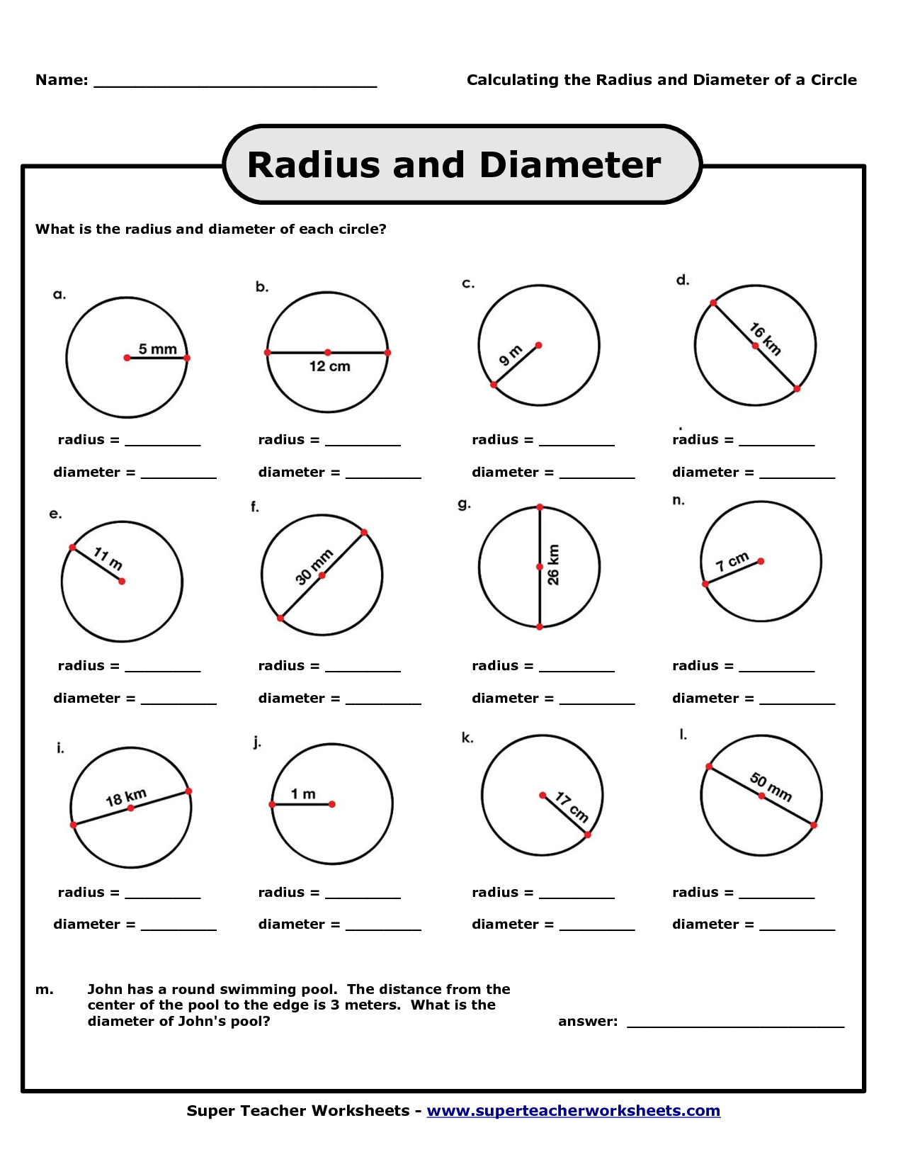 Angles In Circles Worksheet