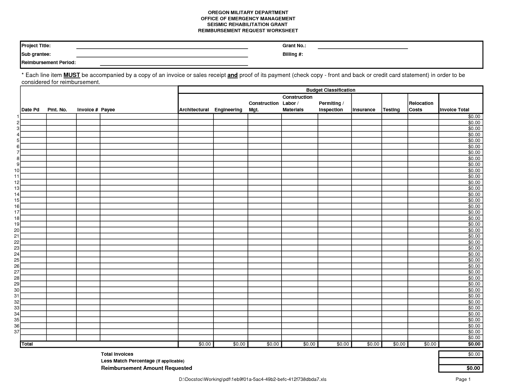 Budget Worksheet For Couples