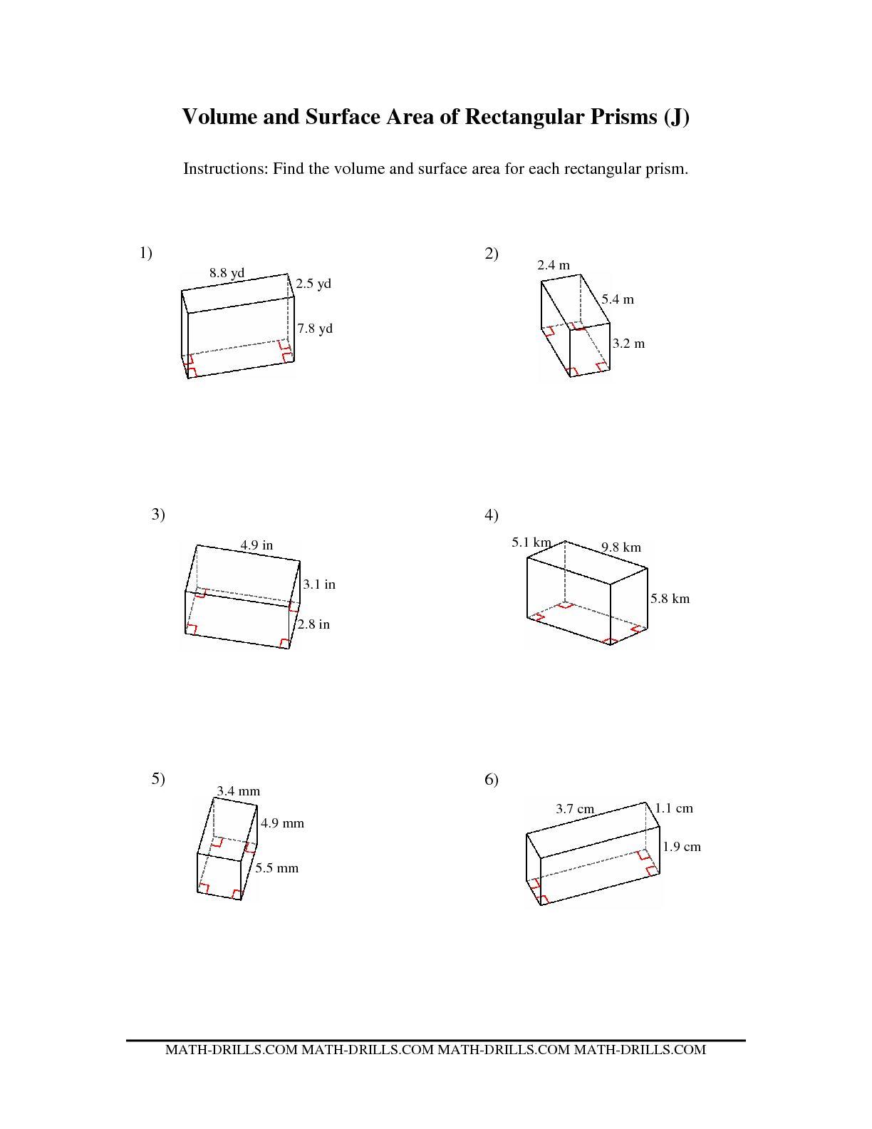 10 Best Images Of Rectangular Prism Volume Worksheet
