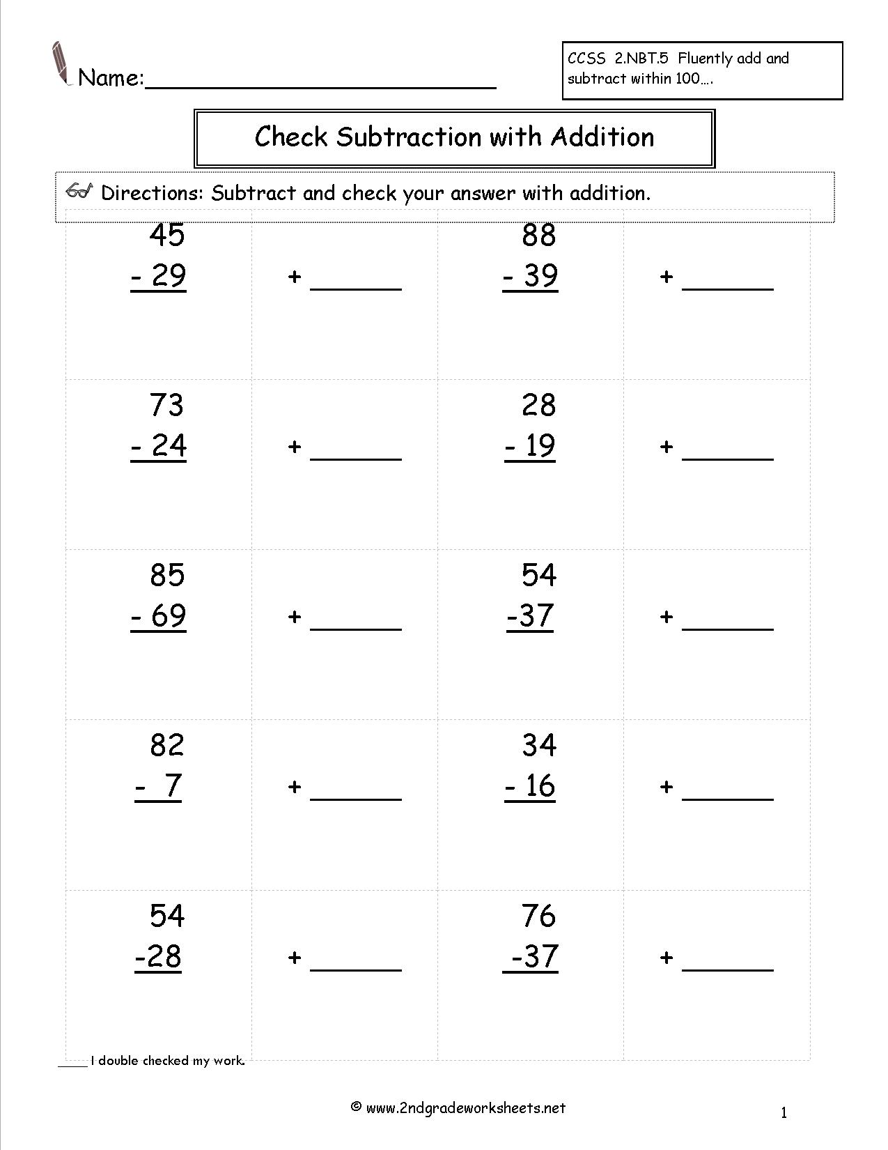 14 Best Images Of 2 Grade Subtraction With Regrouping