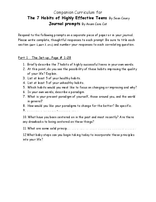 7 Habits Of Highly Effective Teens Essay Poemsrom