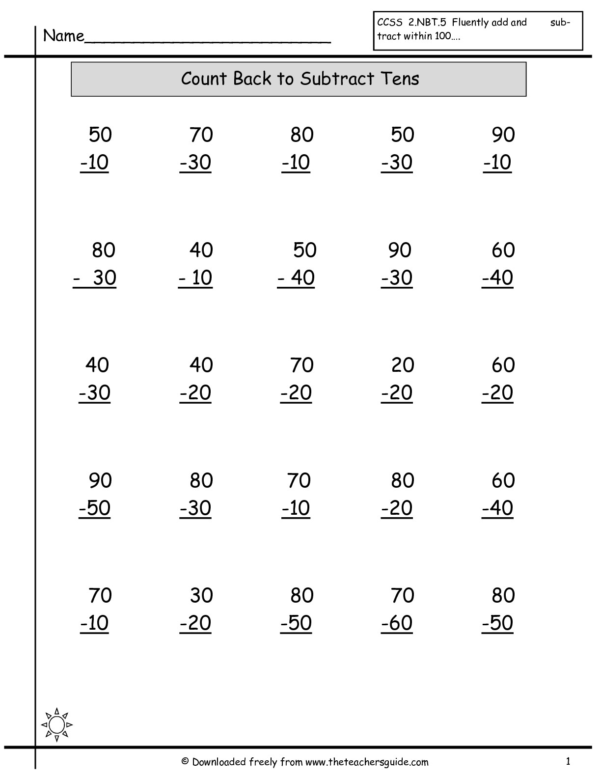 15 Best Images Of 100 Addition And Subtraction Worksheets