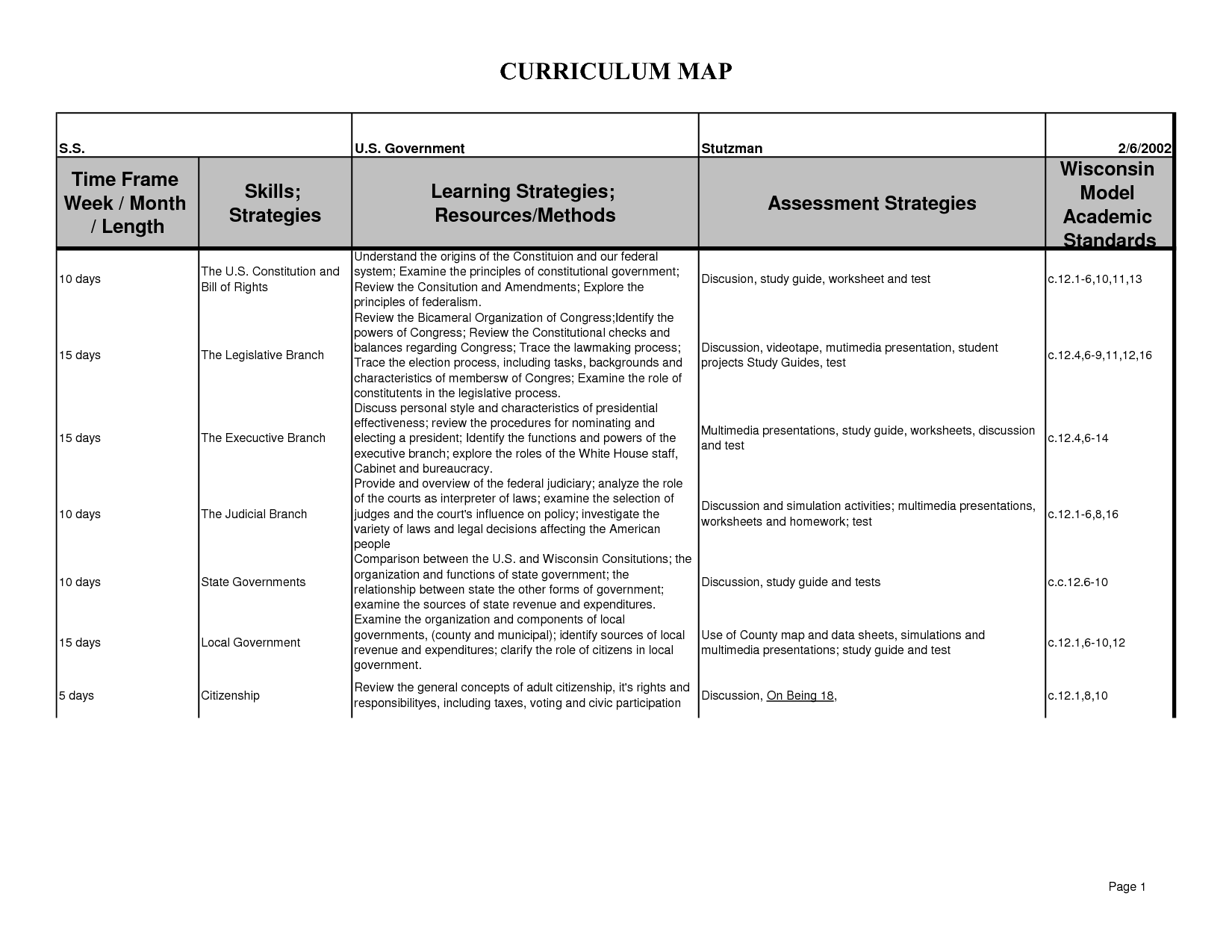 12 Best Images Of 11 Of The Constitution Worksheet