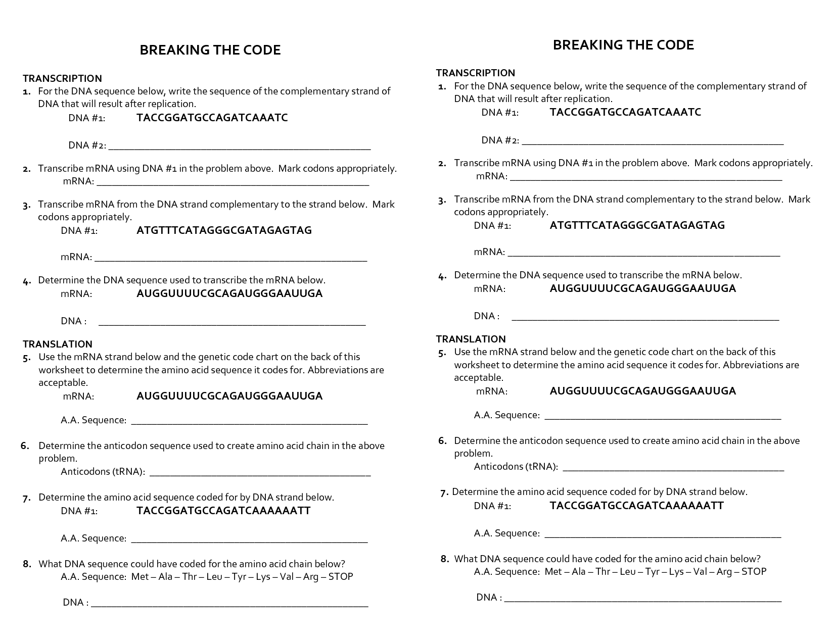 17 Best Images Of Break The Code Worksheets