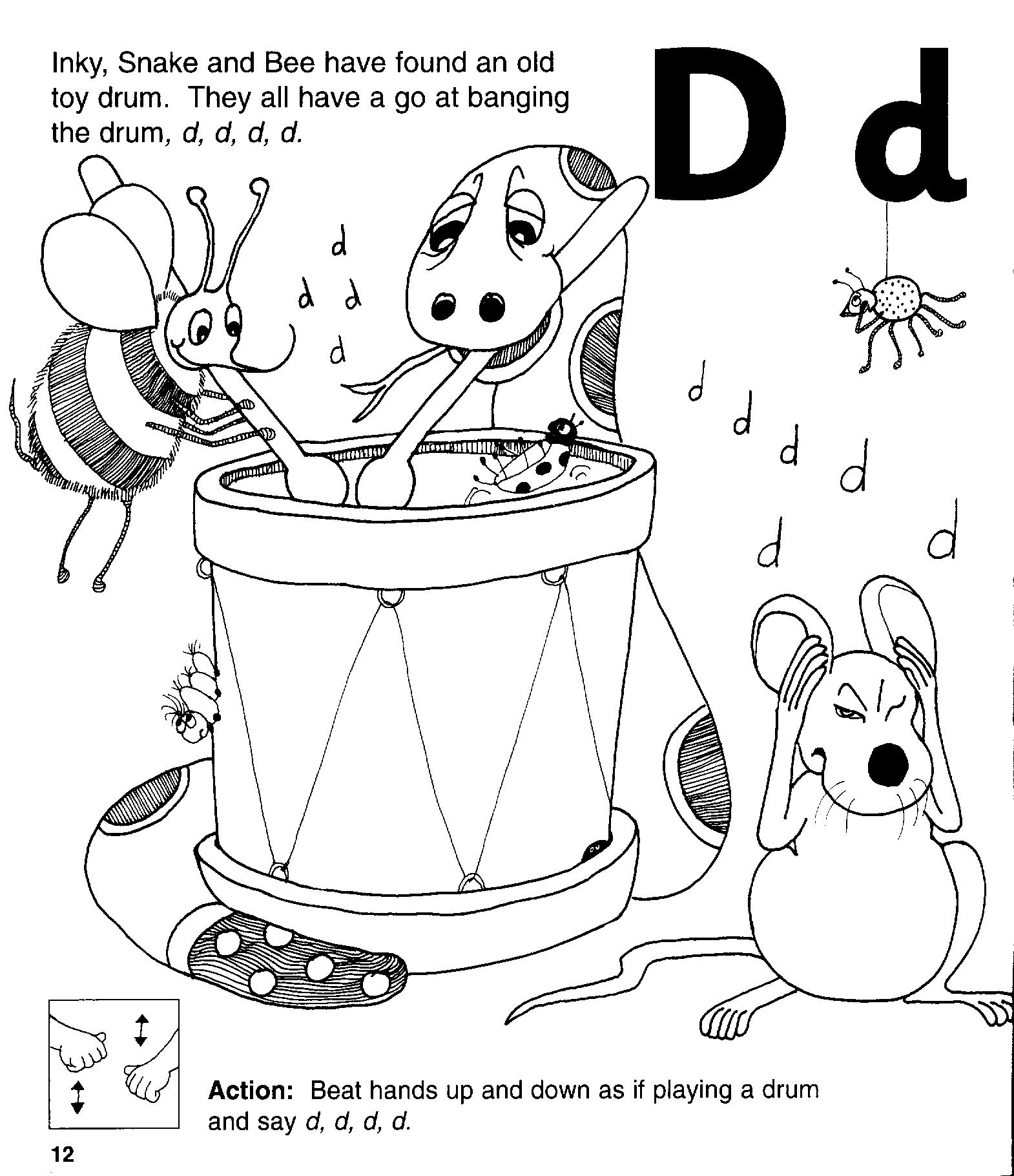 Jolly Phonic Lettert D Worksheet