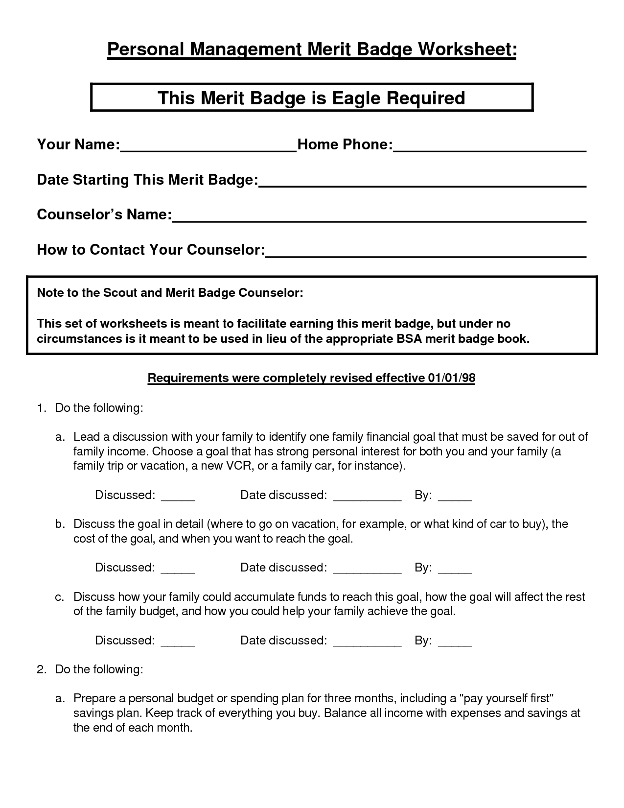 Personal Fitness Worksheet Free Worksheets Library