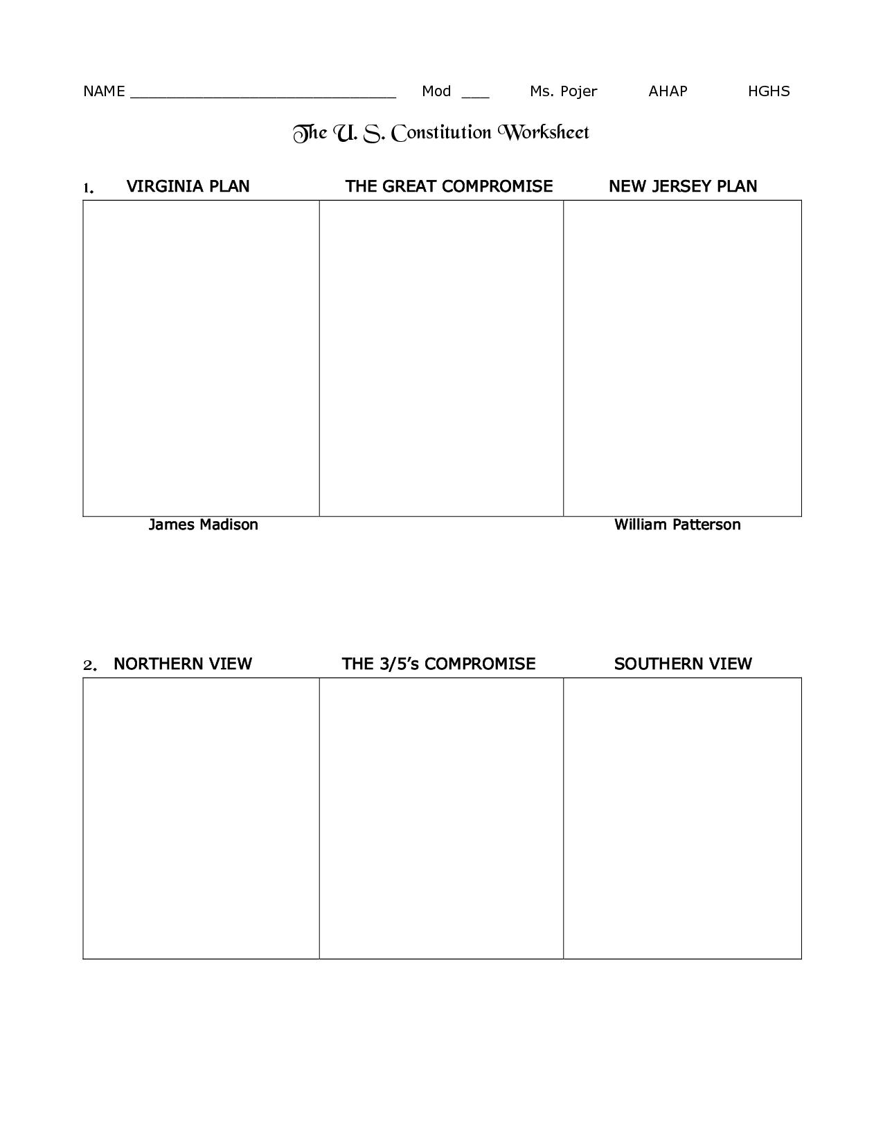 Worksheet The Us Constitution Worksheet Worksheet Fun