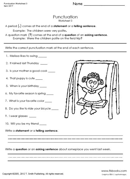 15 Best Images Of Punctuation Worksheets Grade 4