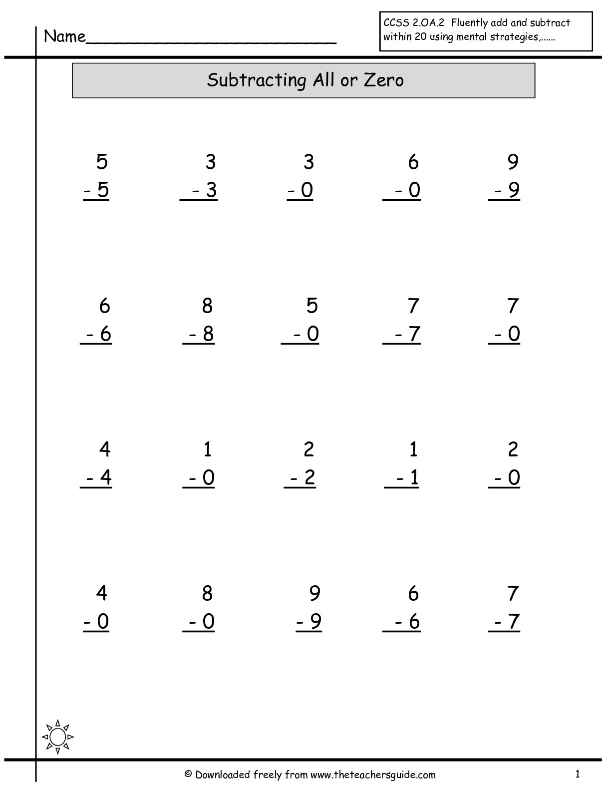 15 Best Images Of Single Addition And Subtraction