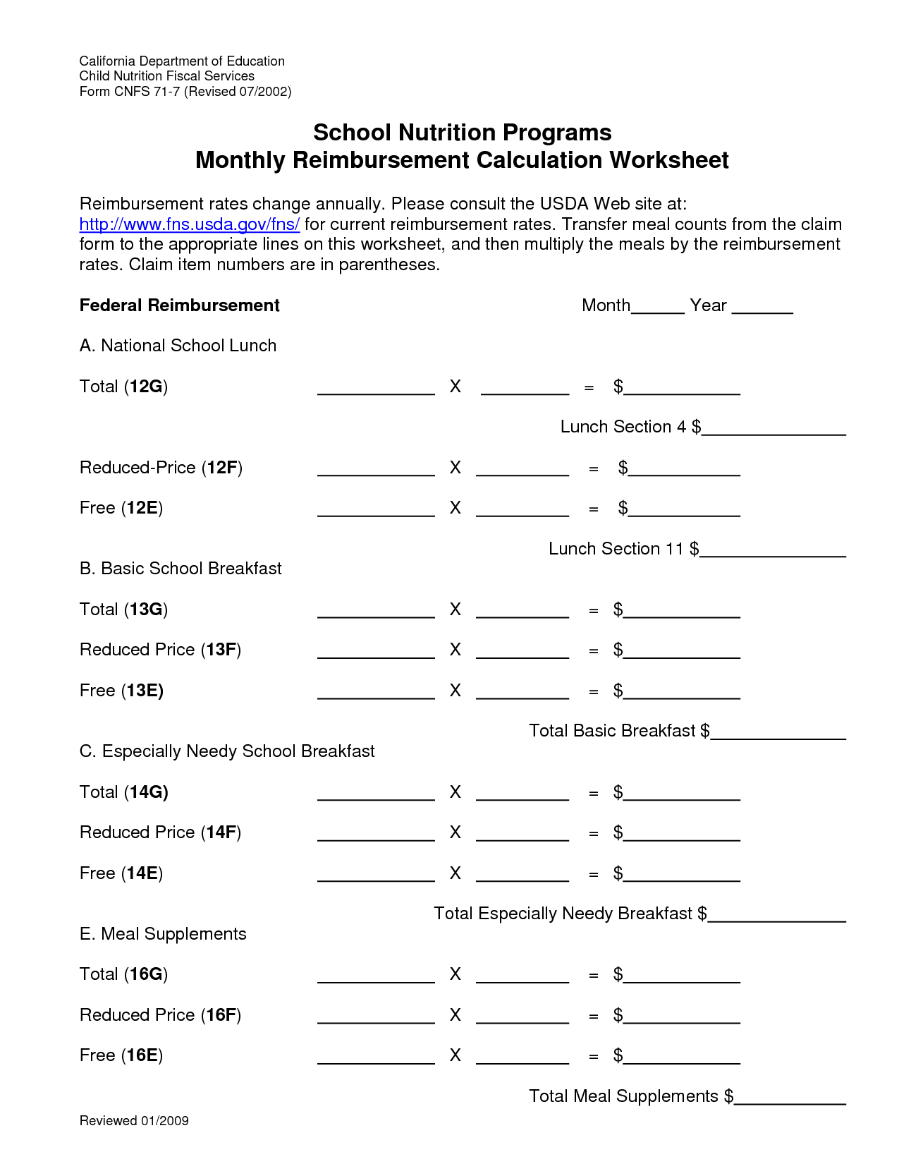 Vitamin Worksheet Basic
