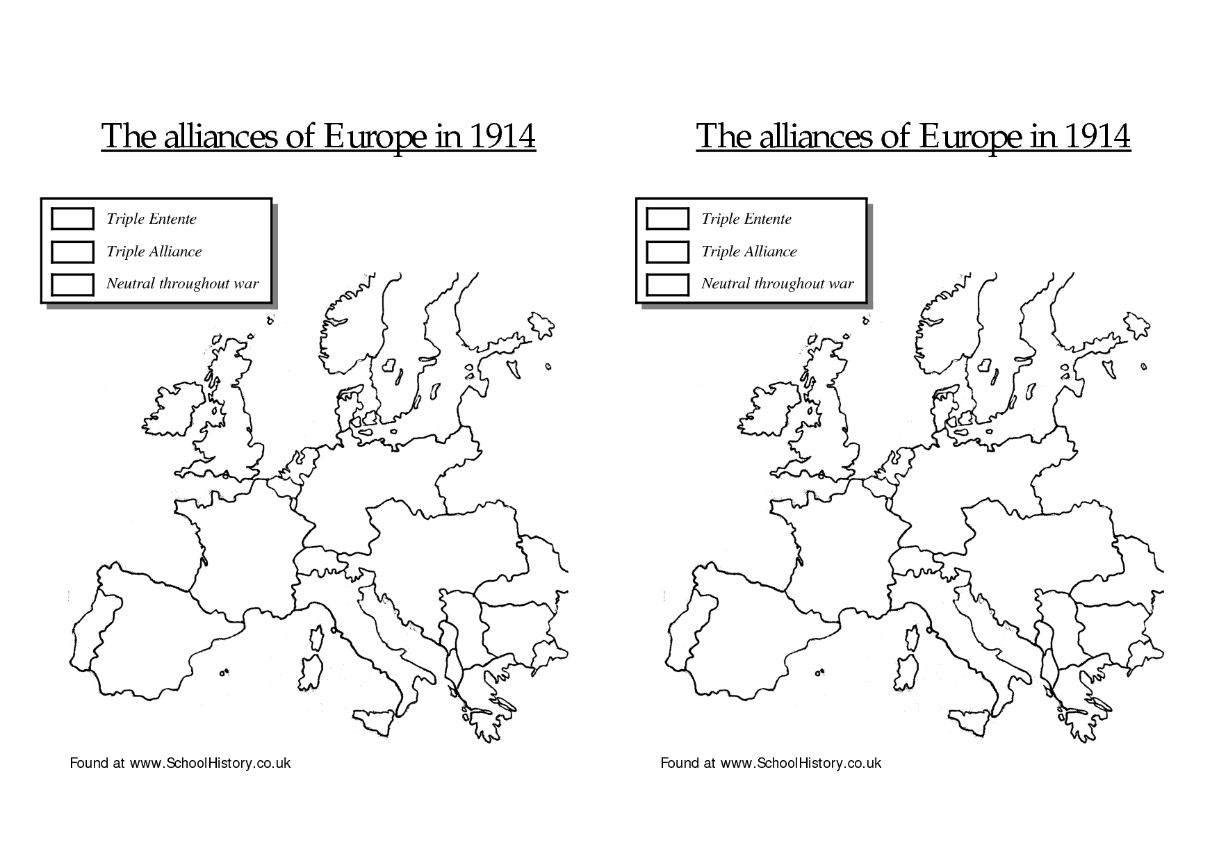 13 Best Images Of World War I Map Worksheet