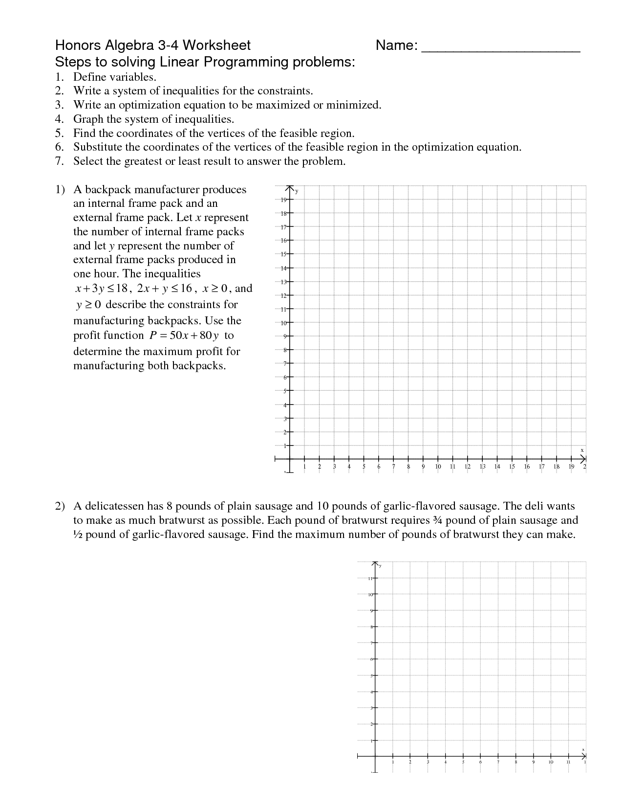 18 Best Images Of Pre Algebra Integers Worksheets And