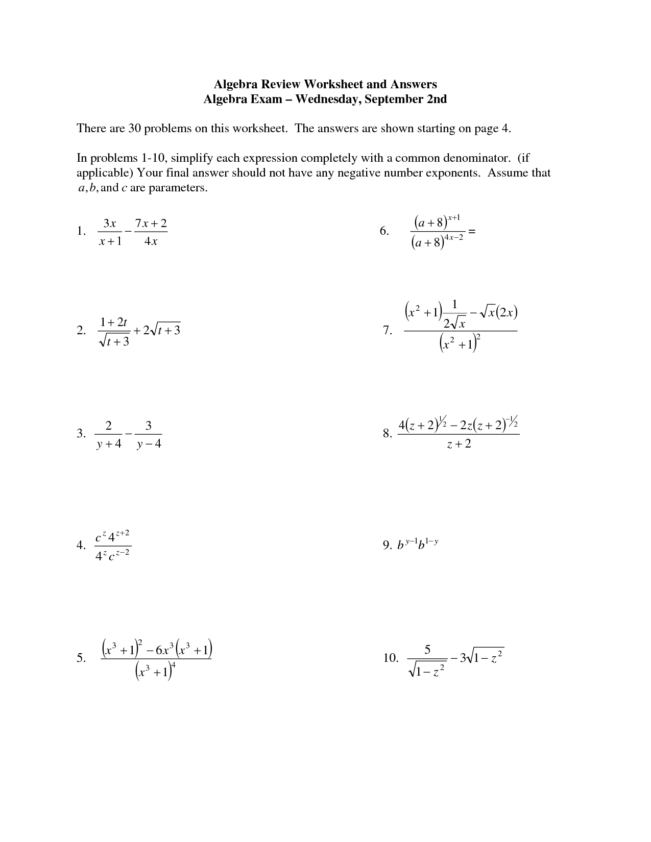 Pre Algebra With Pizzazz Worksheet
