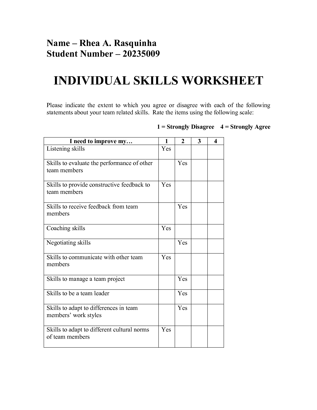 99 Coping Skills Printable Worksheet