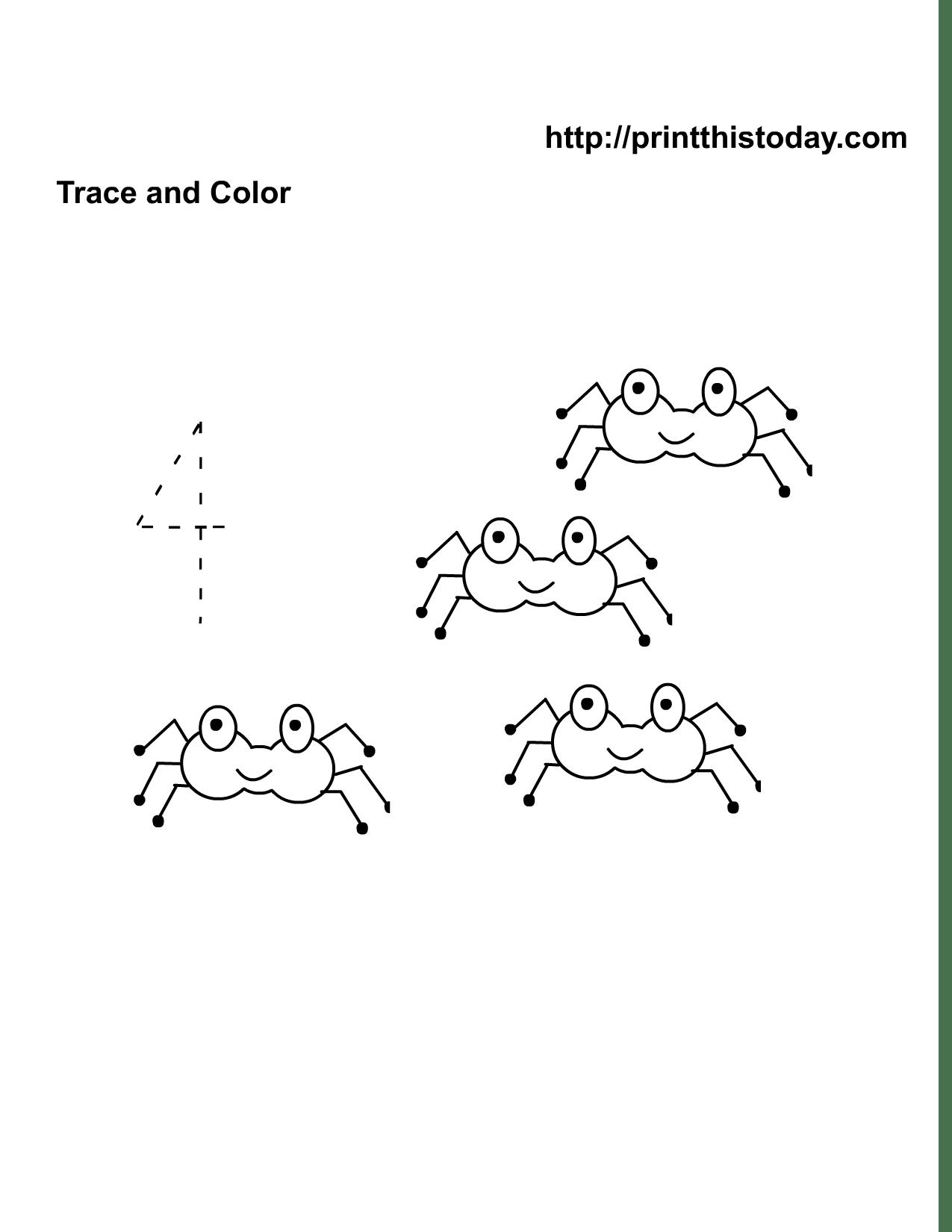 5 Best Images Of Spider Math Worksheets