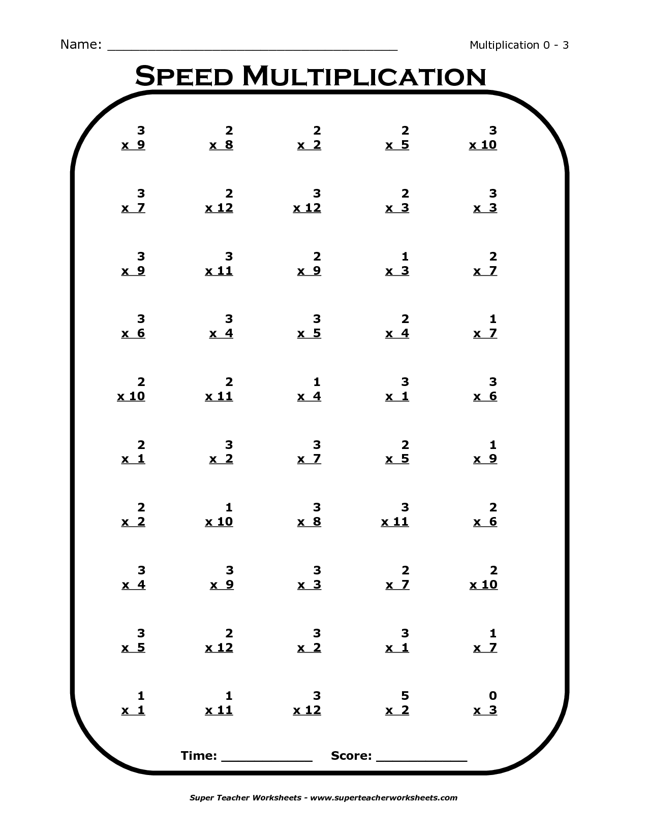 13 Best Images Of Worksheets Printable Multiplication