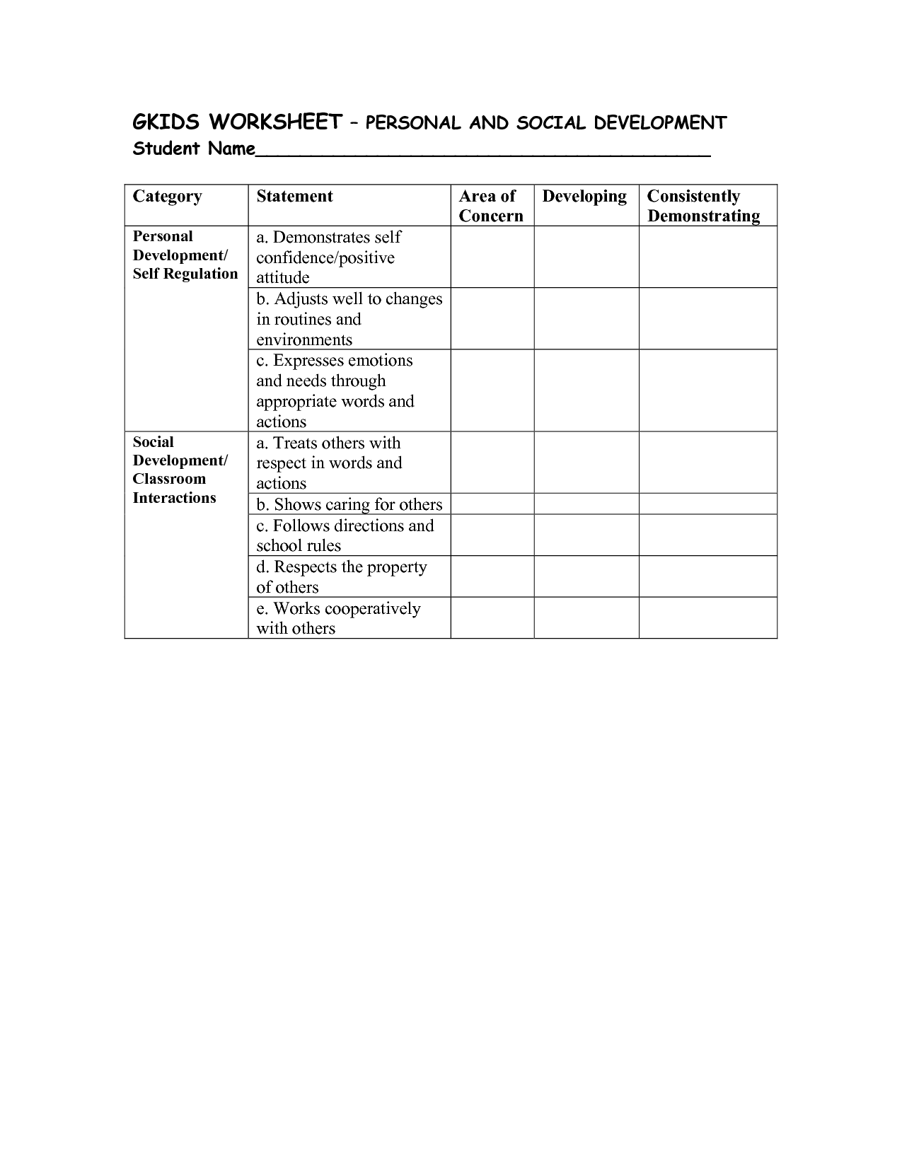18 Best Images Of Appropriate Social Skills Worksheets