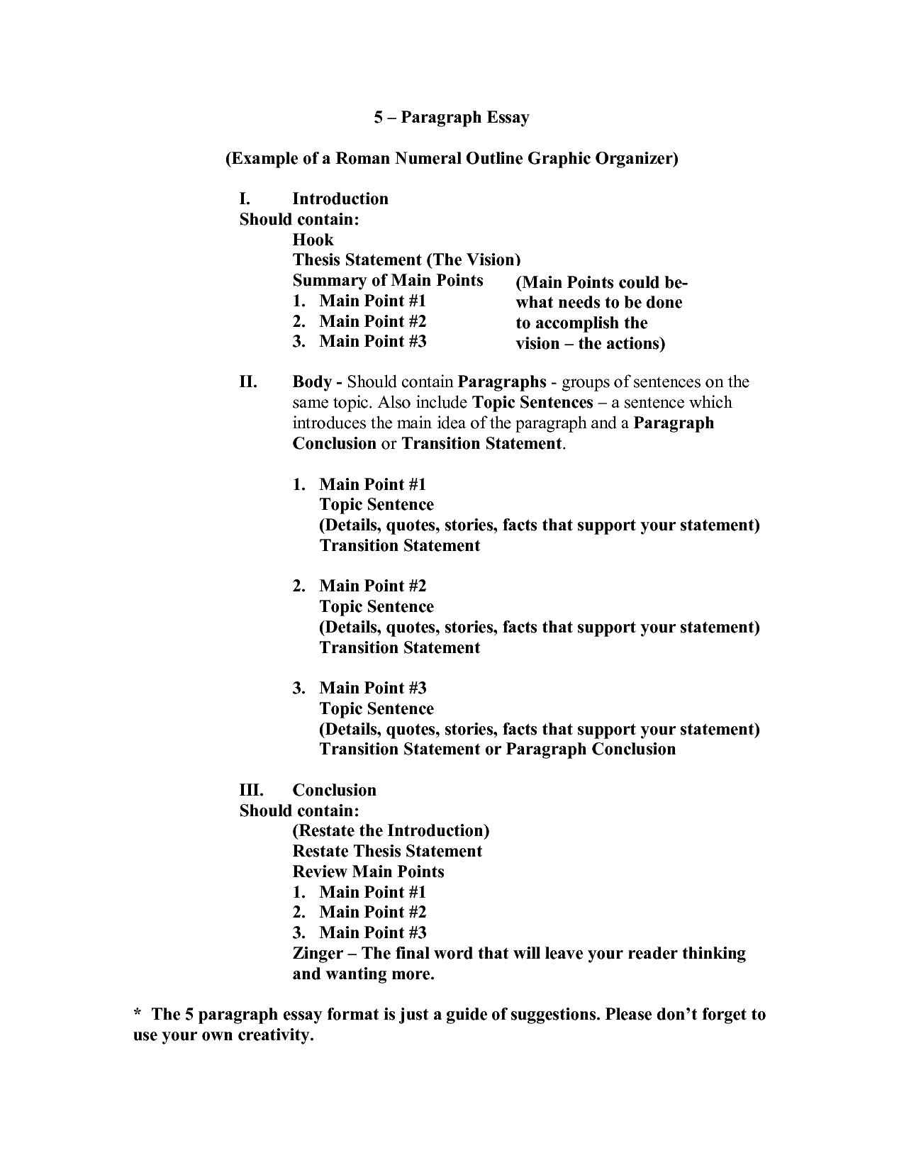 Worksheet Roman Numeral Outline