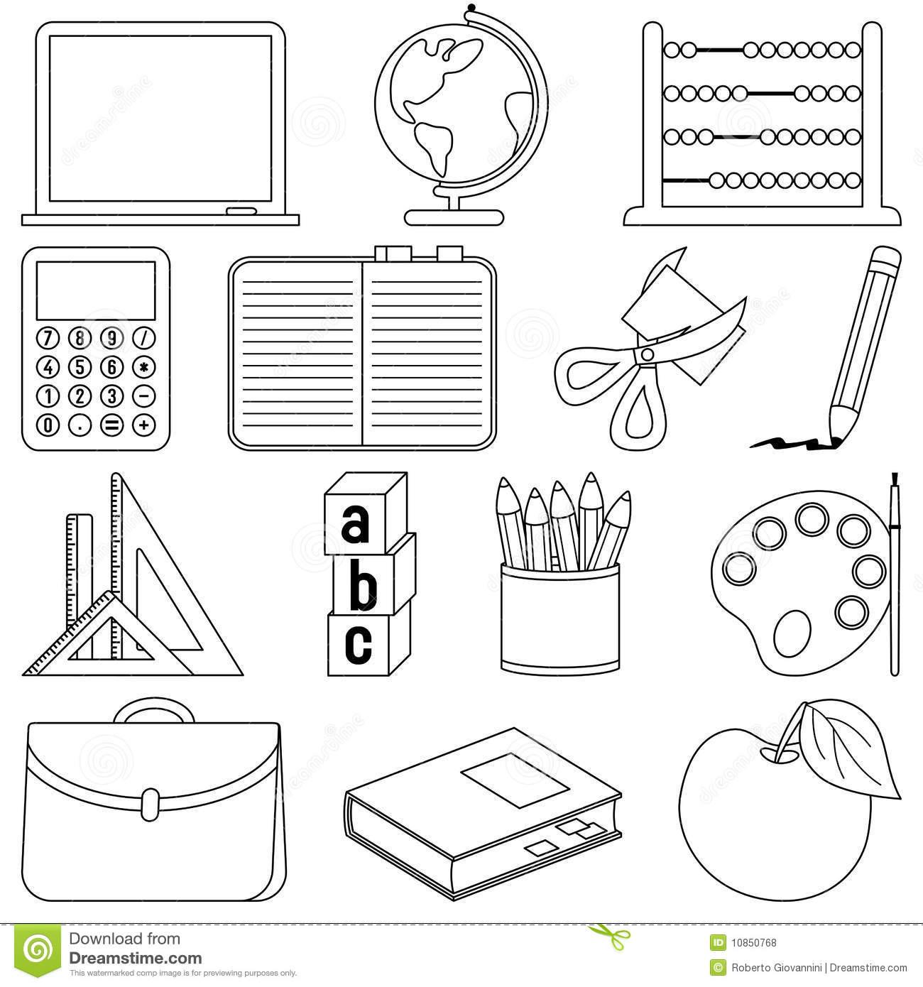 French School Supplies Worksheet