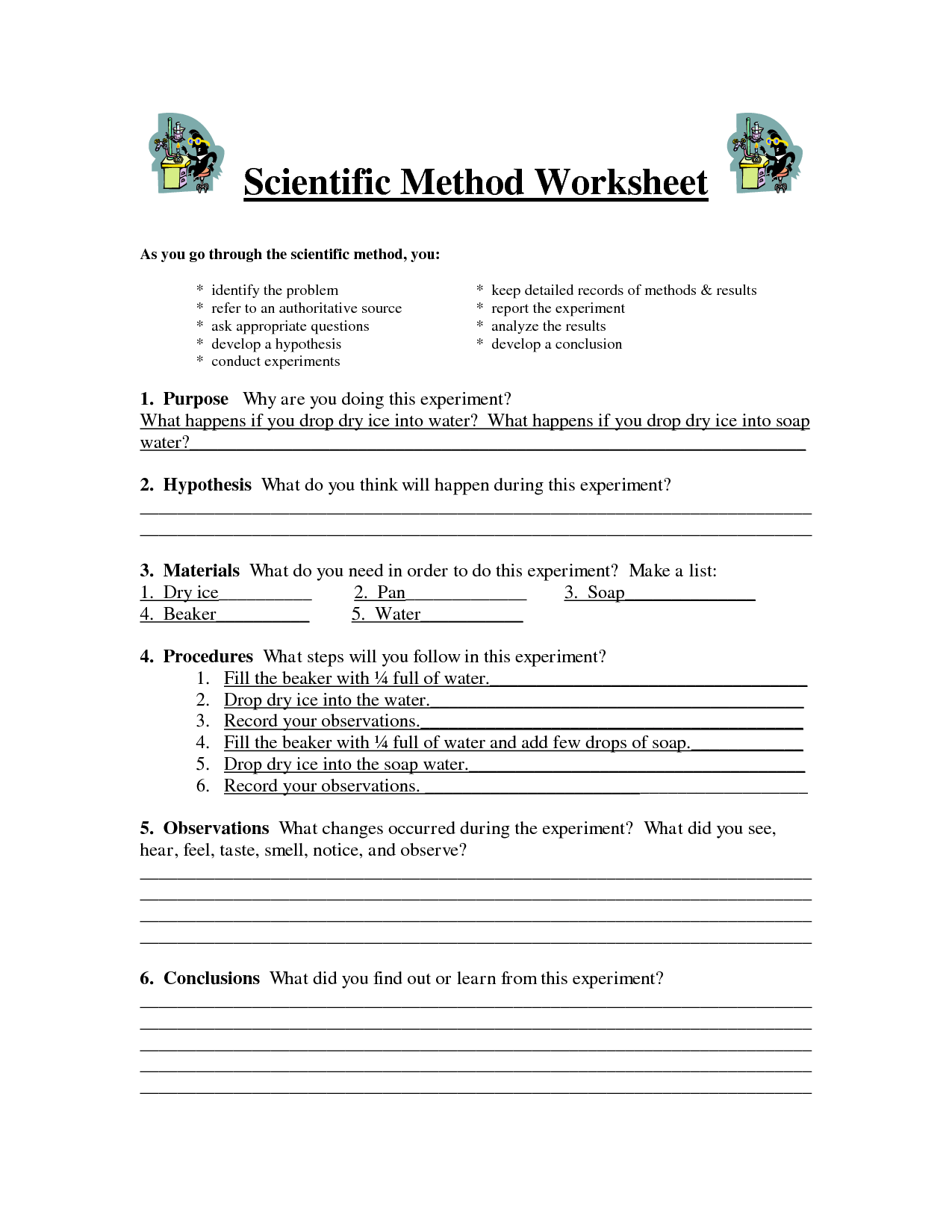 Worksheet Scientific Method Worksheet Middle School Grass Fedjp Worksheet Study Site