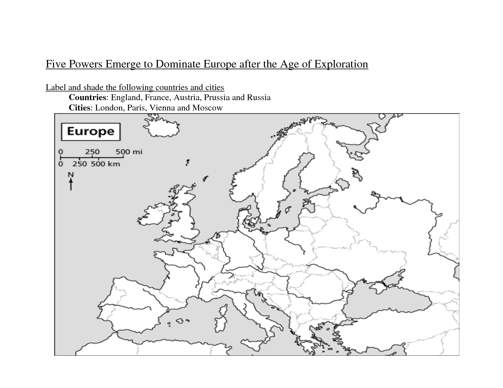 14 Best Images Of European Exploration Map Worksheet