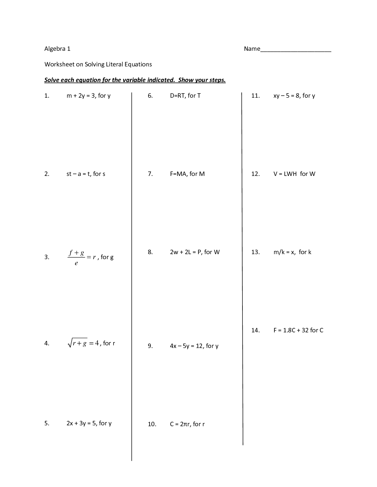13 Best Images Of Algebra Solving Inequalities Worksheet