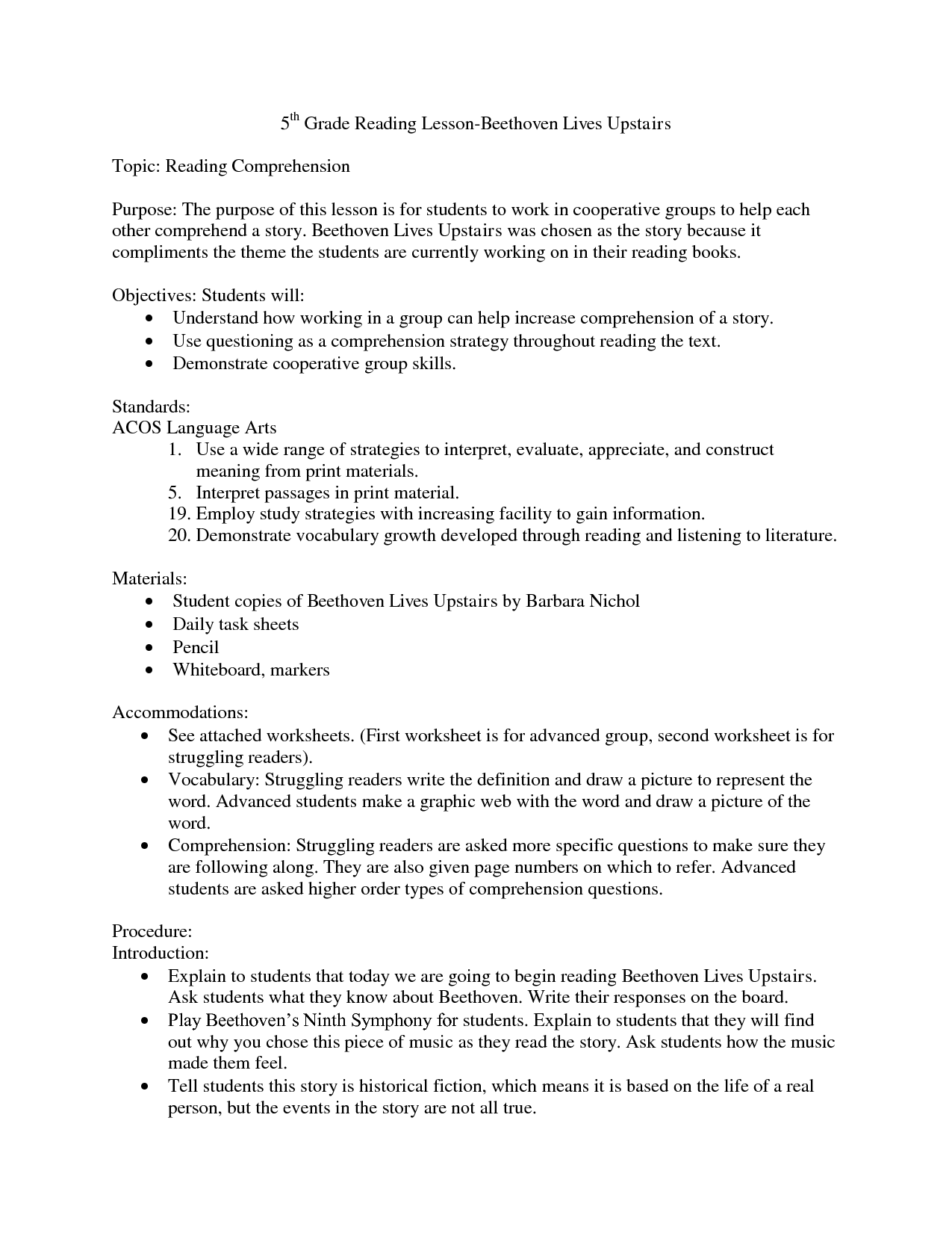 10 Best Images Of Reading Comprehension Worksheets With