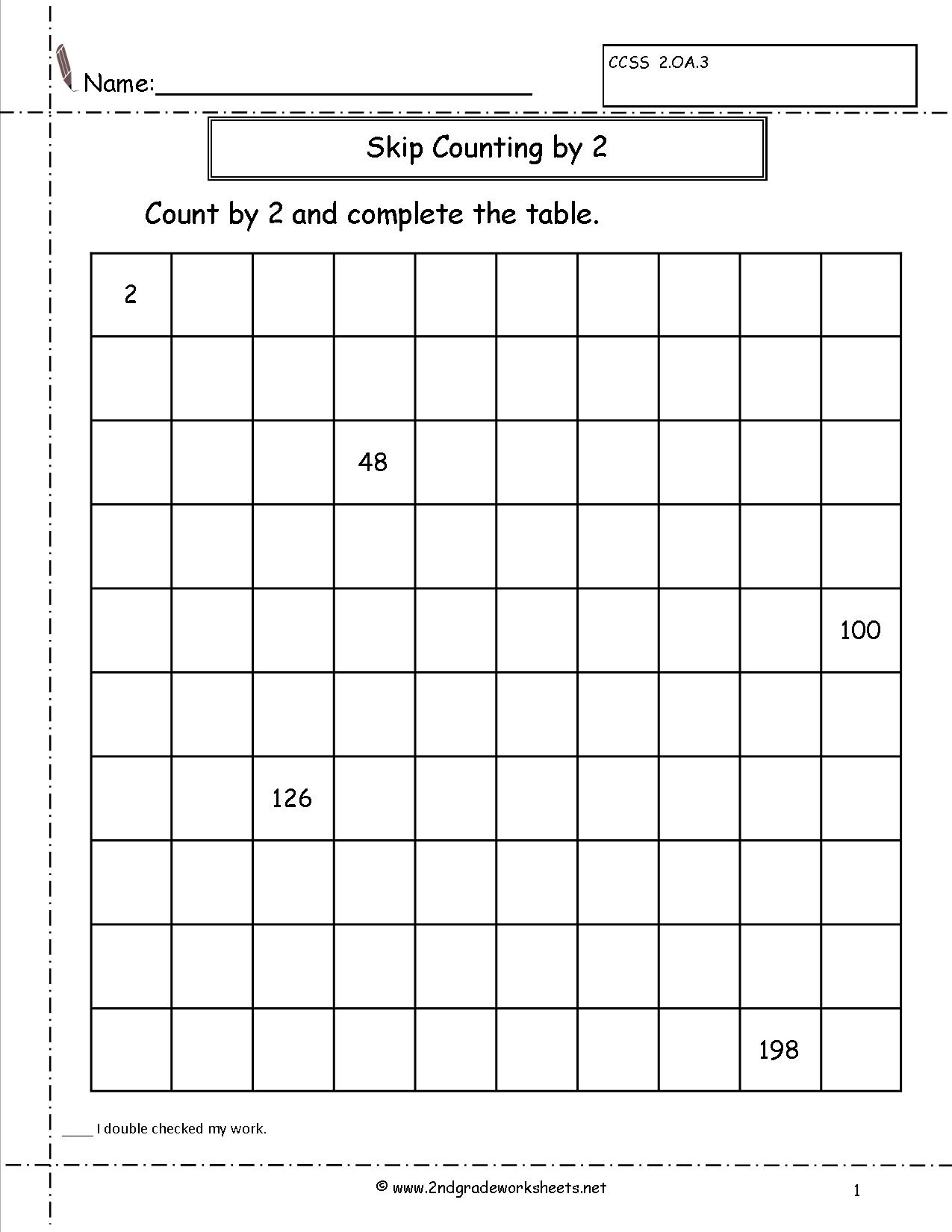 10 Best Images Of Worksheets Counting To 200