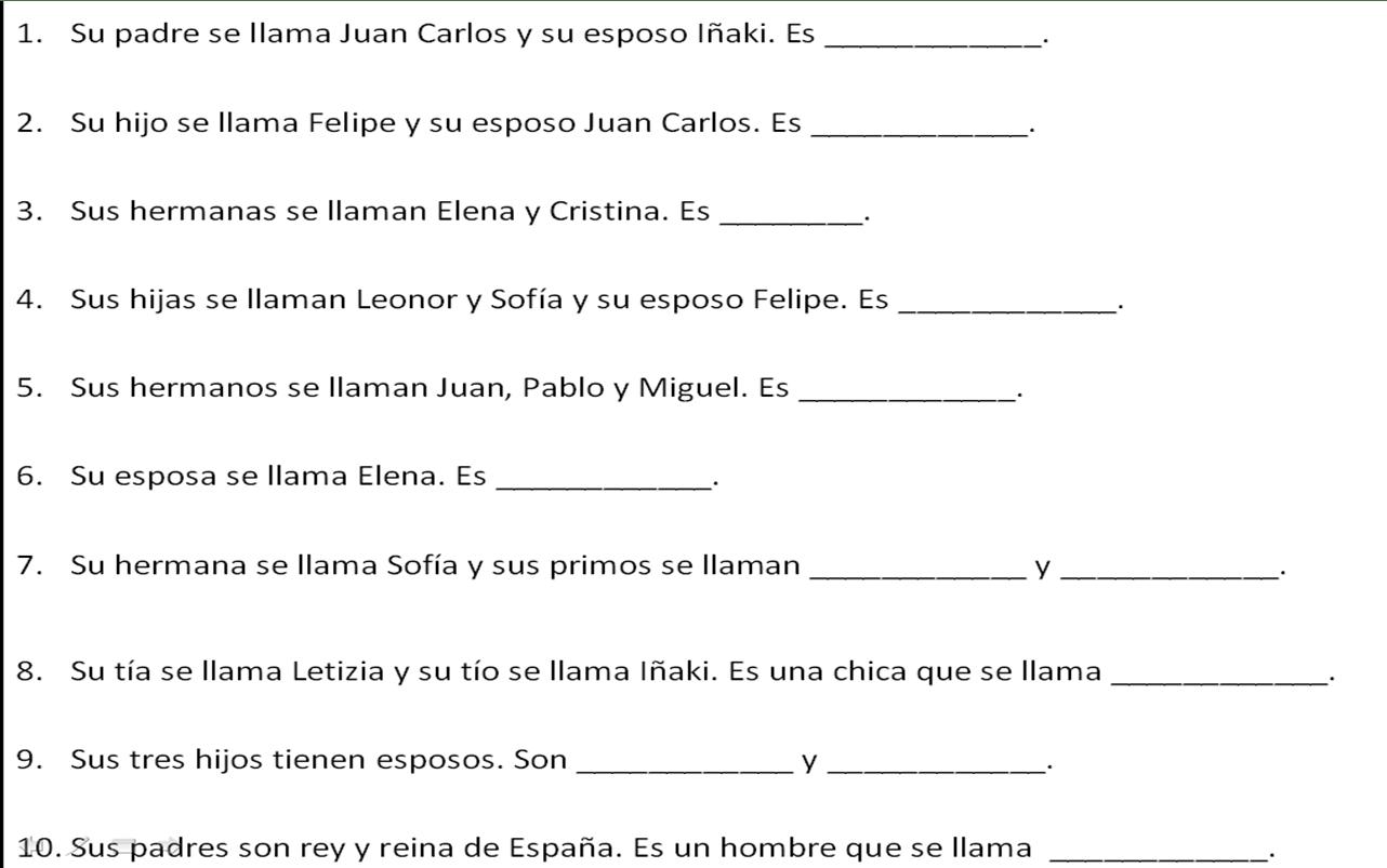 13 Best Images Of Worksheets Ser In Spanish