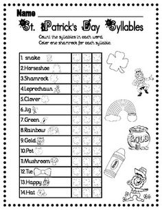 17 Best Images Of Free Syllable Worksheets 1st Grade