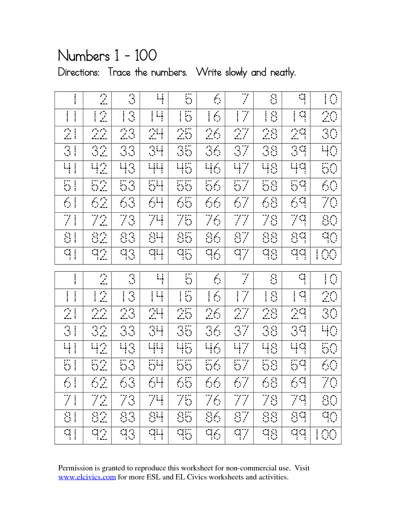 Number Worksheet Category Page 86