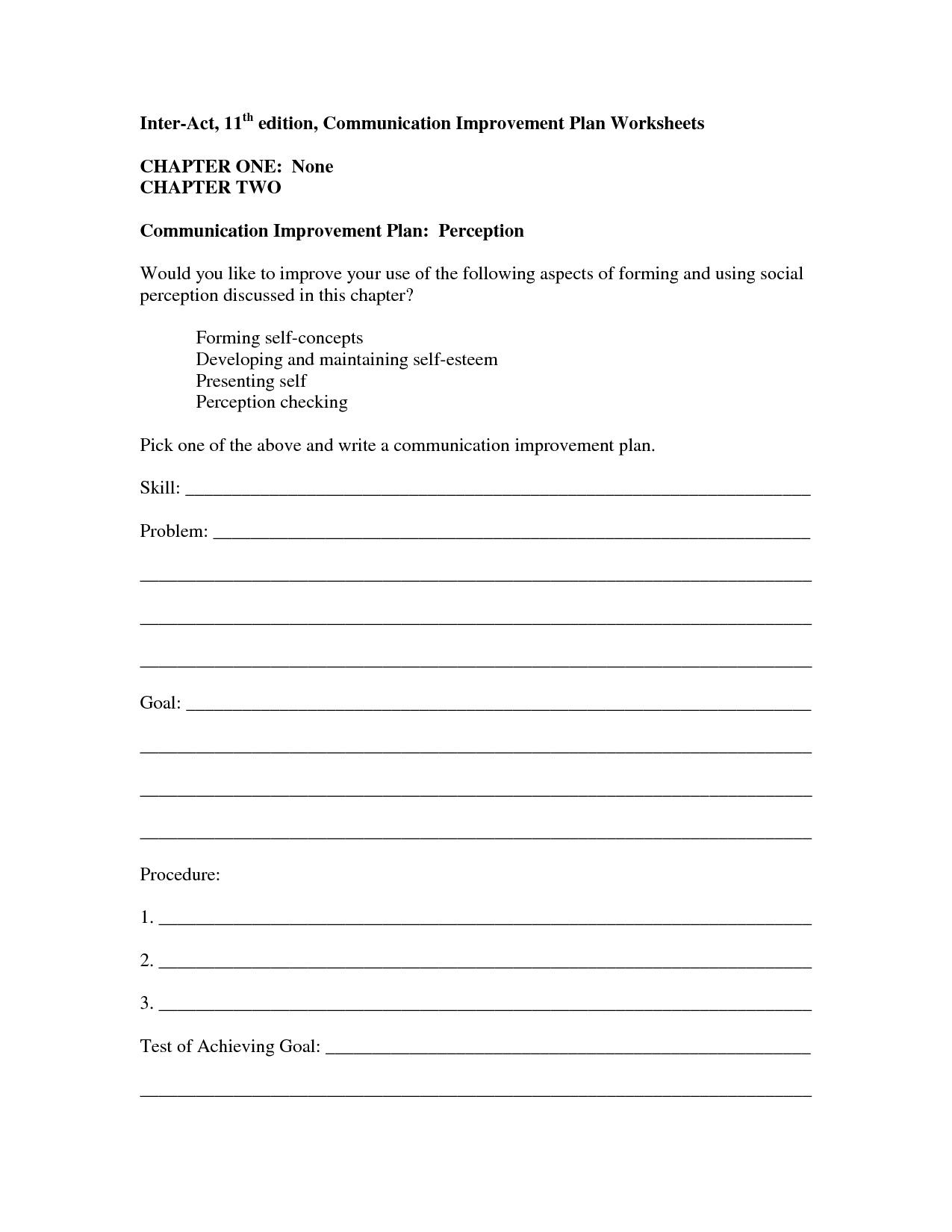 12 Best Images Of Family Communication Worksheets