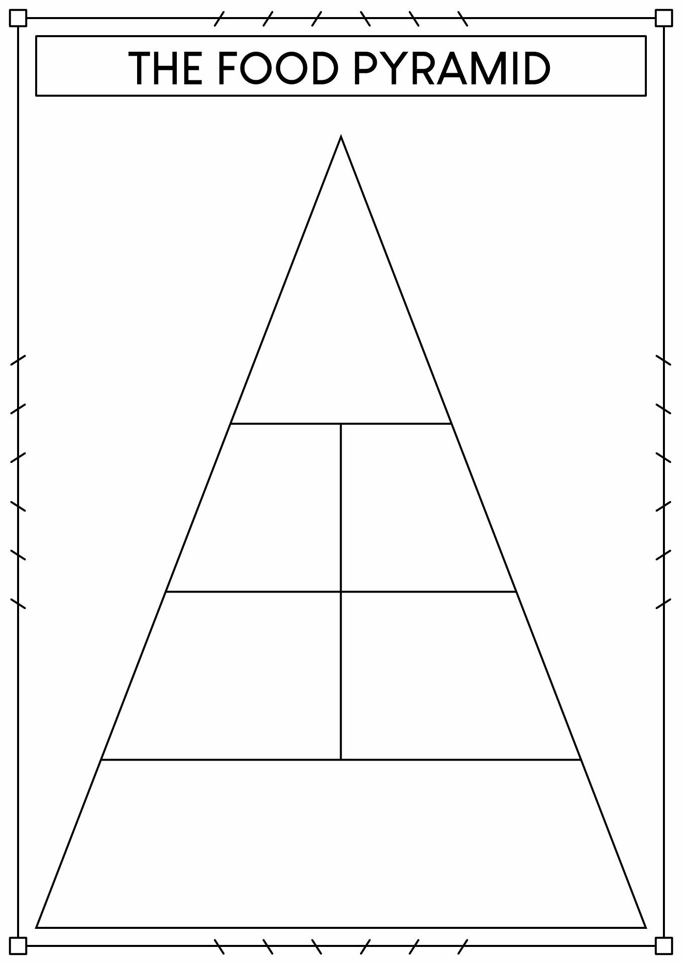 32 Blank Food Pyramid Worksheet