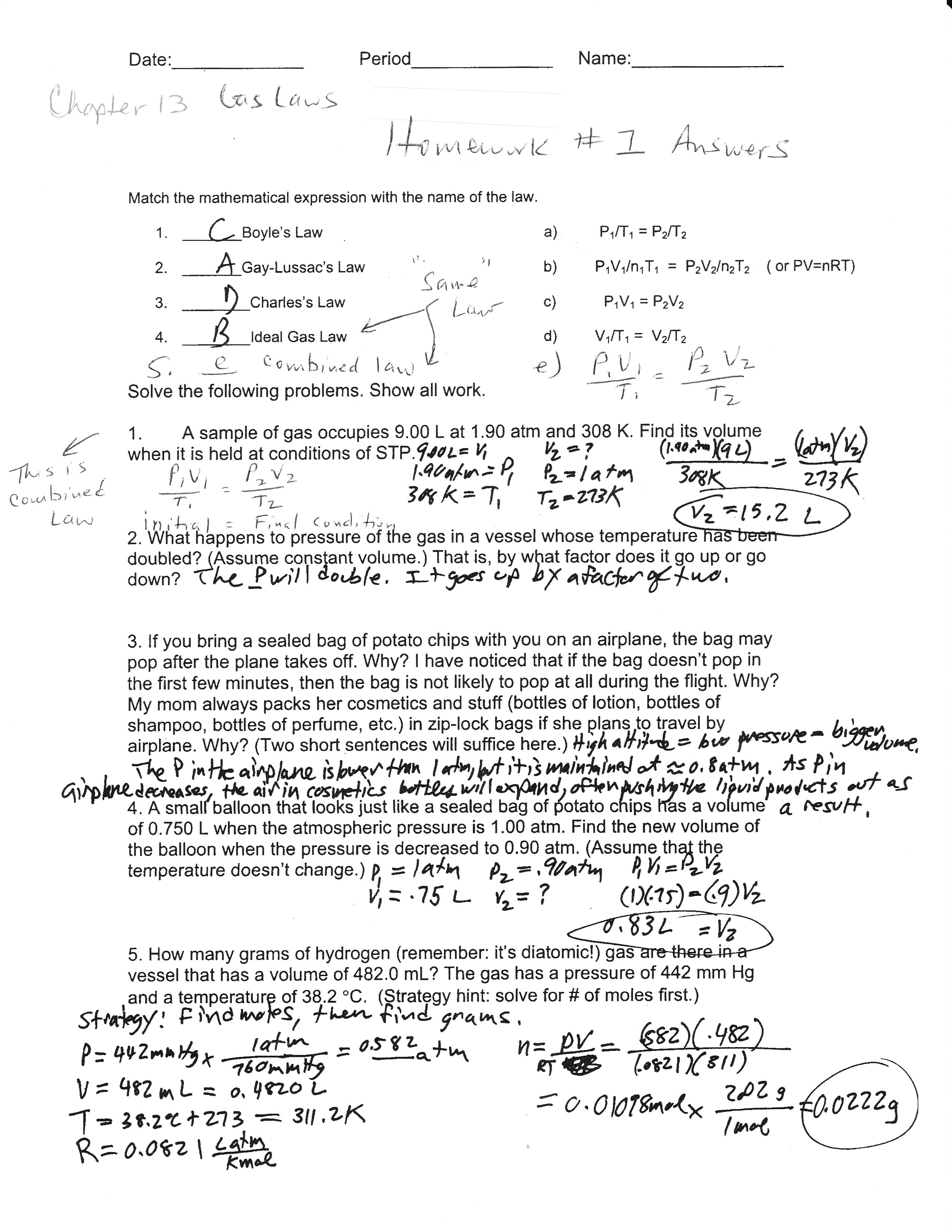 Classification Of Matter Worksheet Pogil Answer Key