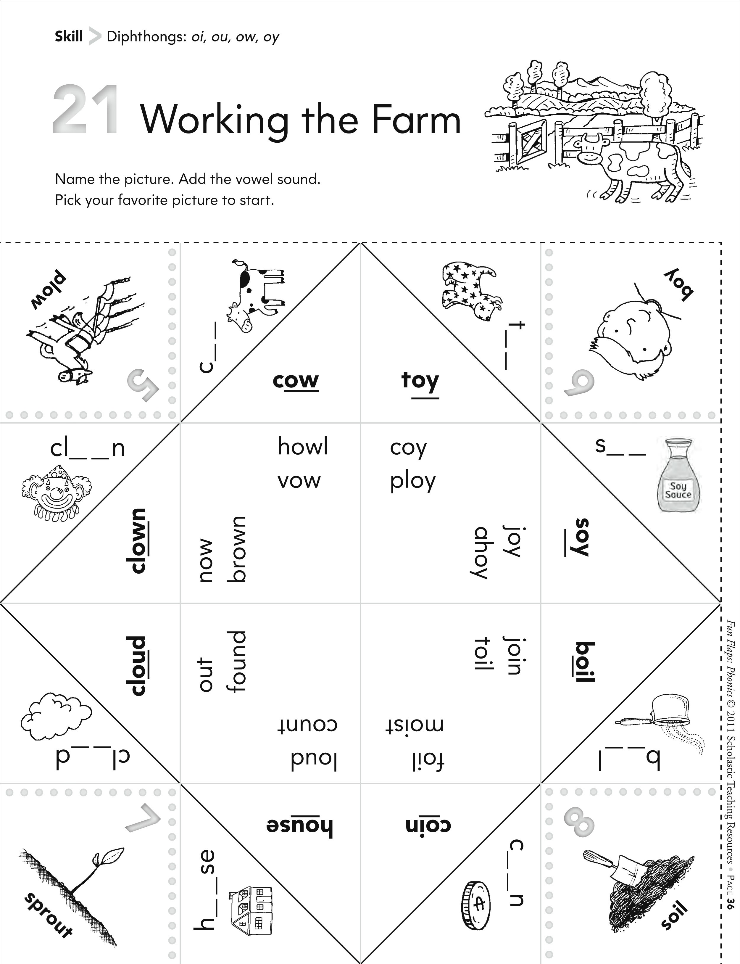 14 Best Images Of Phonics Oi And Oy Worksheets