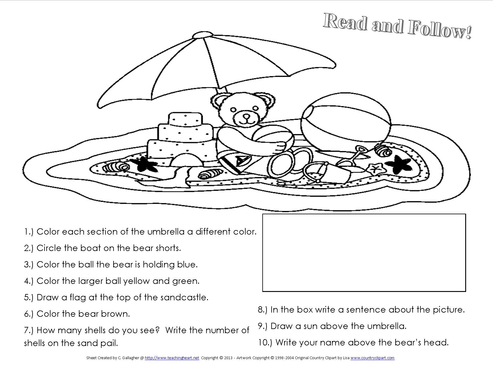 9 Best Images Of Summer Safety Worksheet For Kindergarten