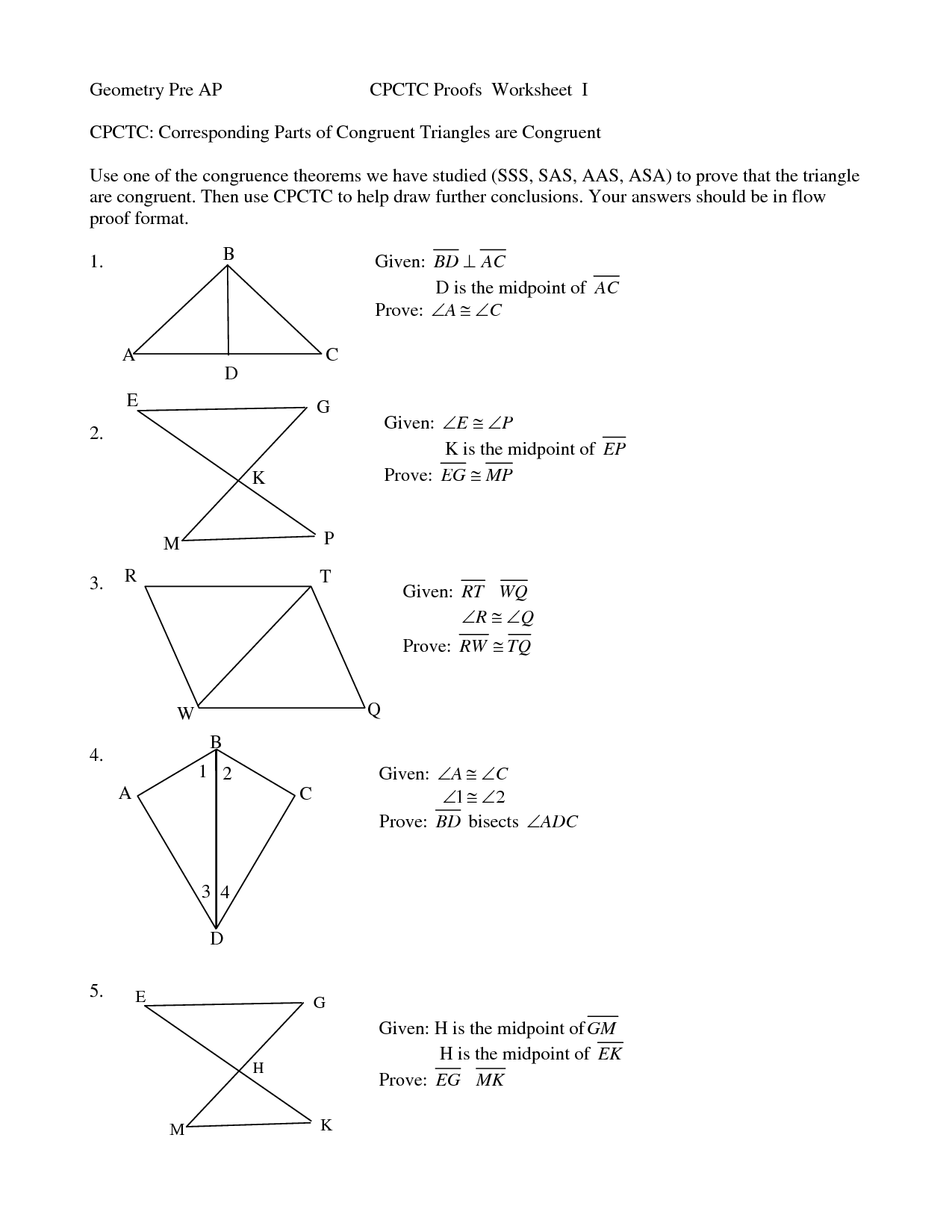 Proving Triangles Congruent Worksheet Answer Key Previous